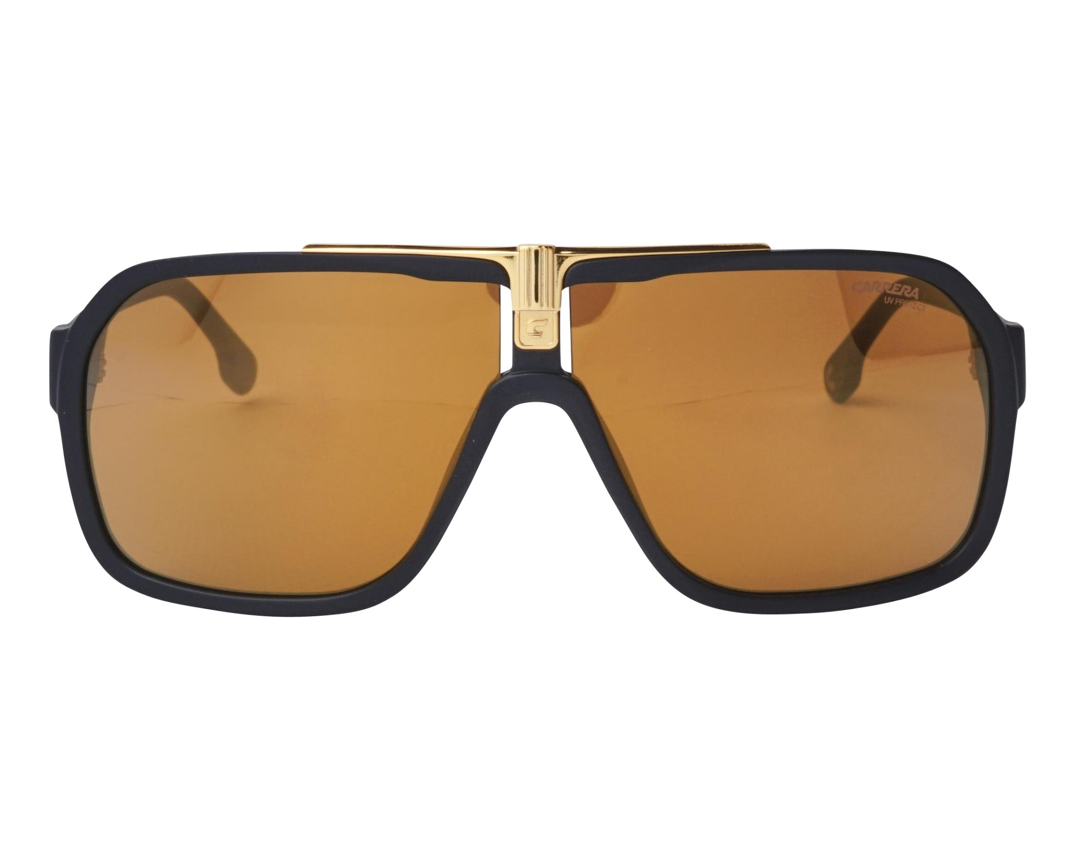 b3db13ea2 Sunglasses Carrera 1014-S I46K1 64-10 Black Gold front view