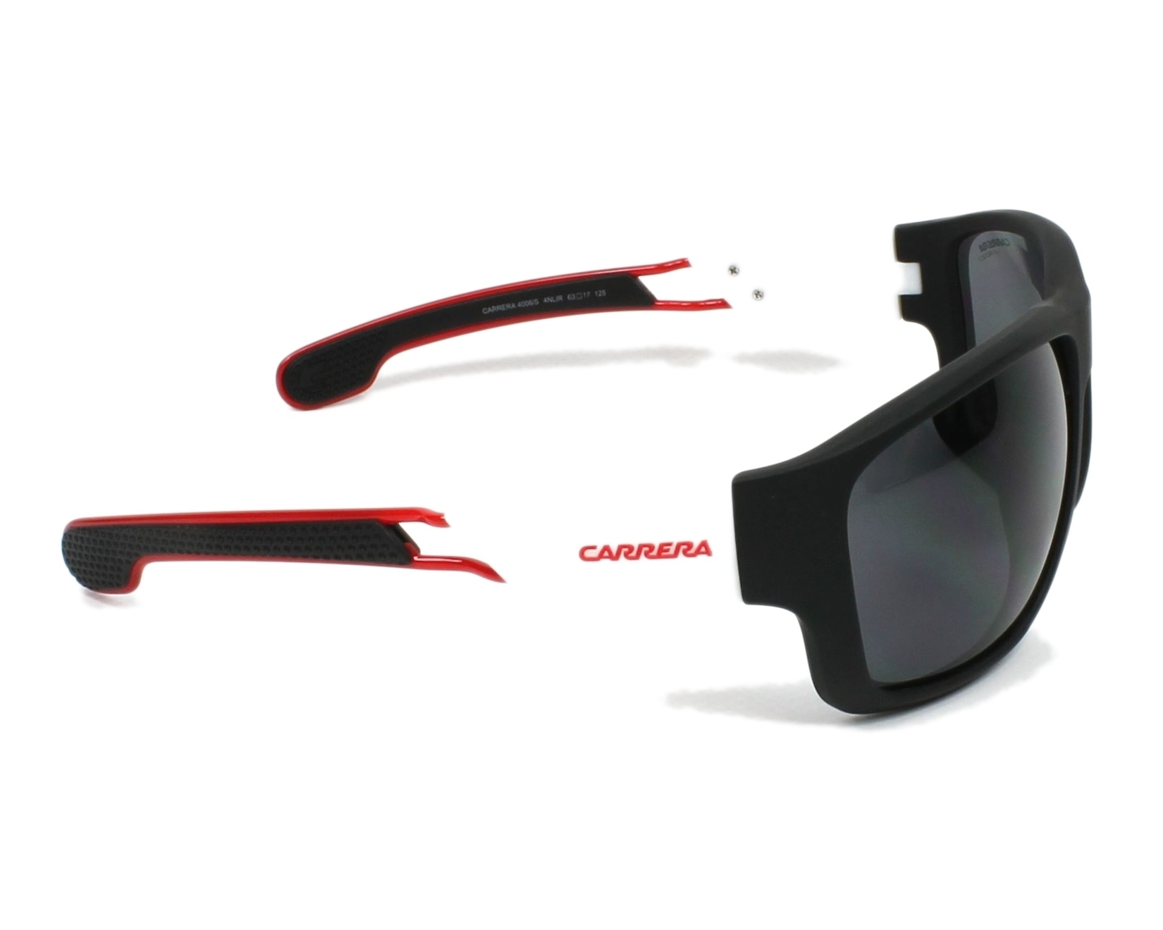 9ce738eb971 Sunglasses Carrera 4006-S 4NL IR 63-17 Black White side view