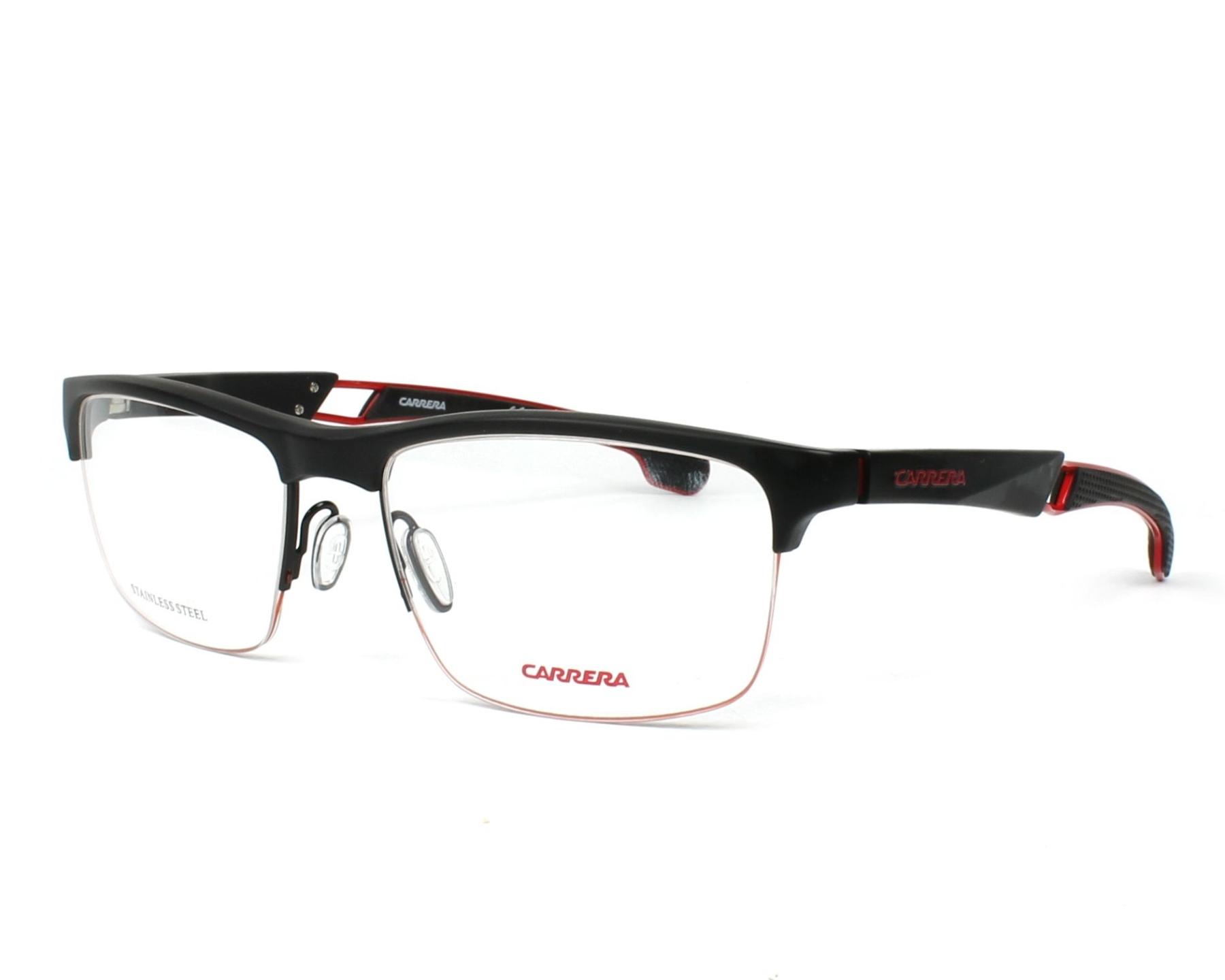 be9fc0f05 eyeglasses Carrera 4403-V 003 55-17 Black Red profile view