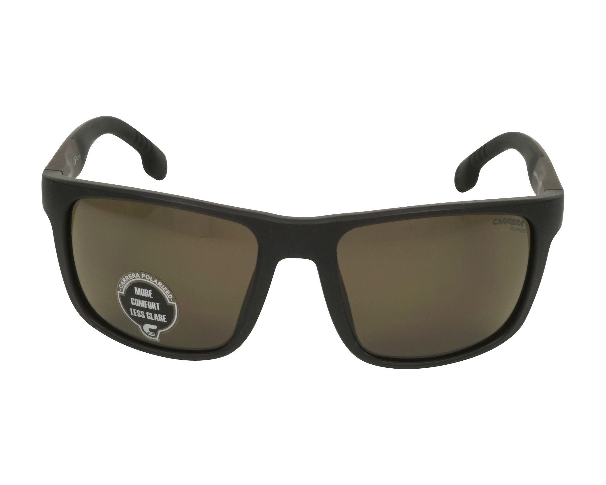 b60b2ac18d7 Sunglasses Carrera 8027-S 09Q SP 57-19 Black Brown front view