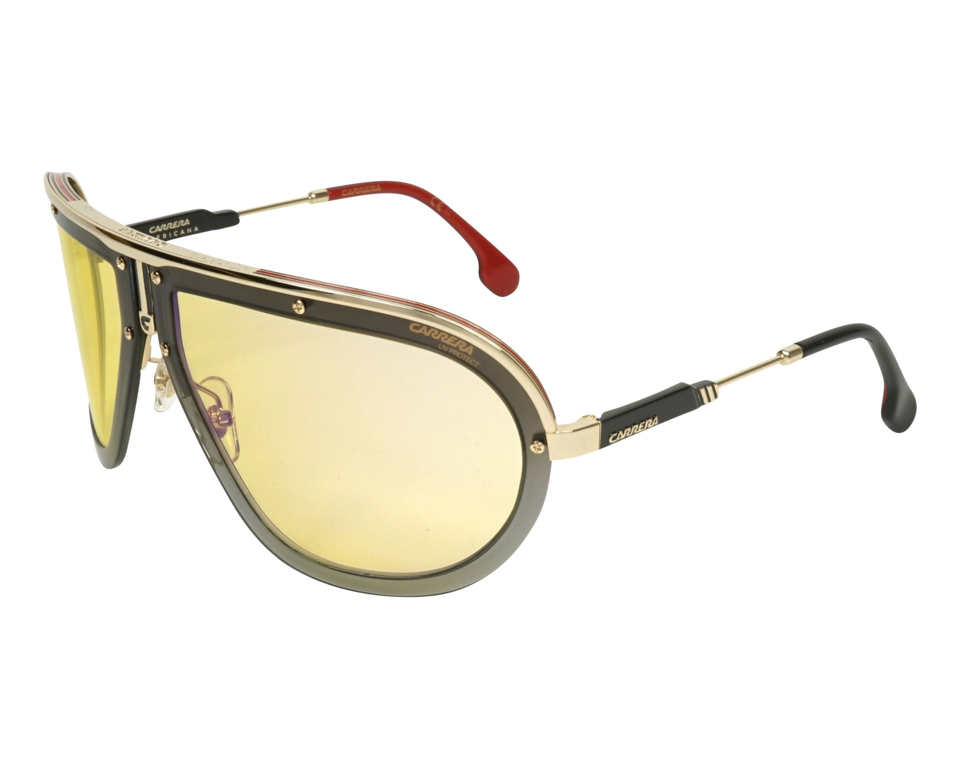bc42bac701 Sunglasses Carrera AMERICANA DYG CU 66-17 Gold Grey profile view