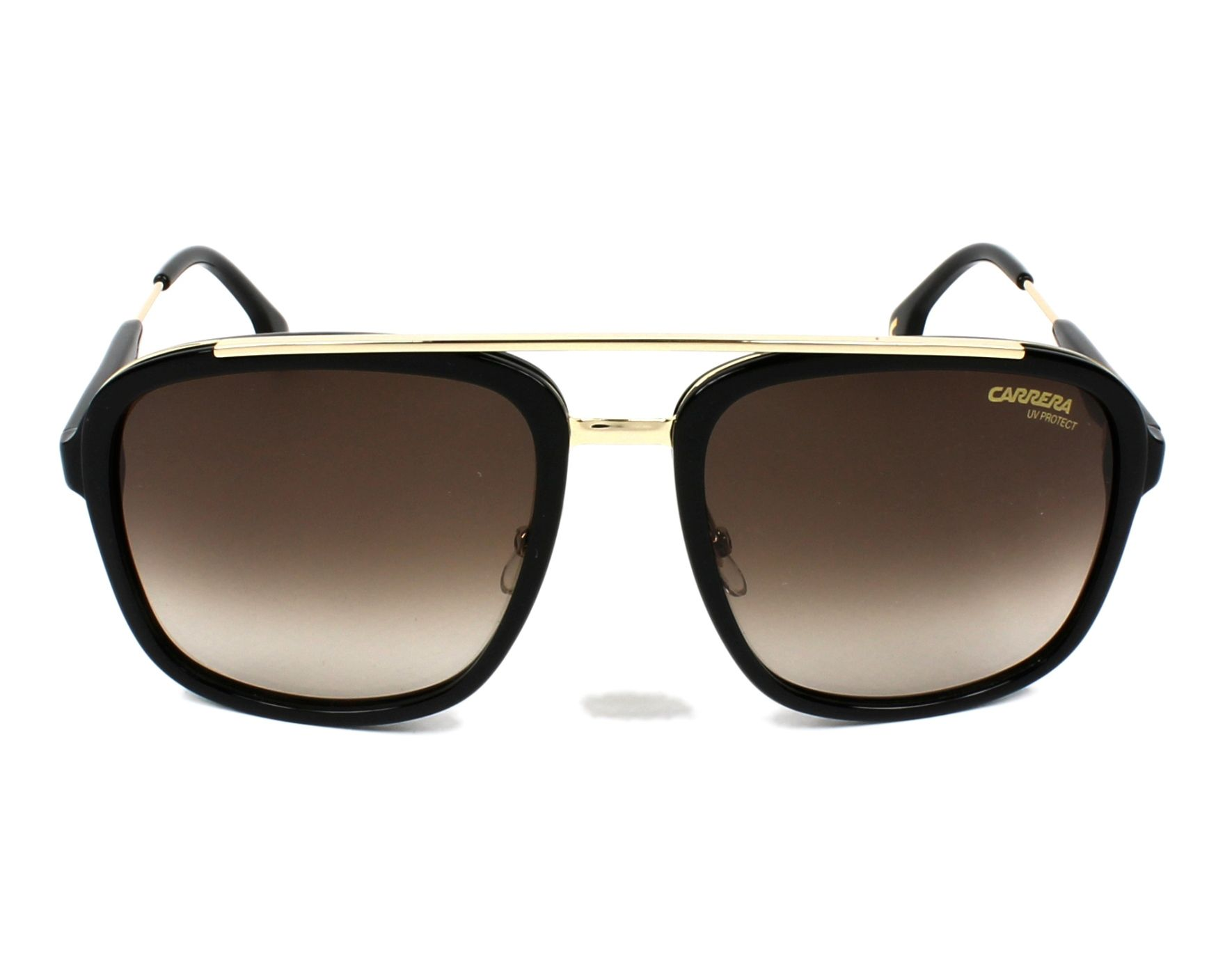 4faf098d4d8 thumbnail Sunglasses Carrera CARRERA-133-S 2M2 HA - Black Gold front view