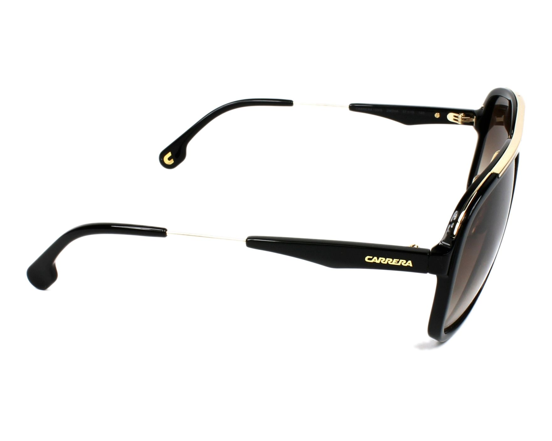 041a023e9ea thumbnail Sunglasses Carrera CARRERA-133-S 2M2 HA - Black Gold side view