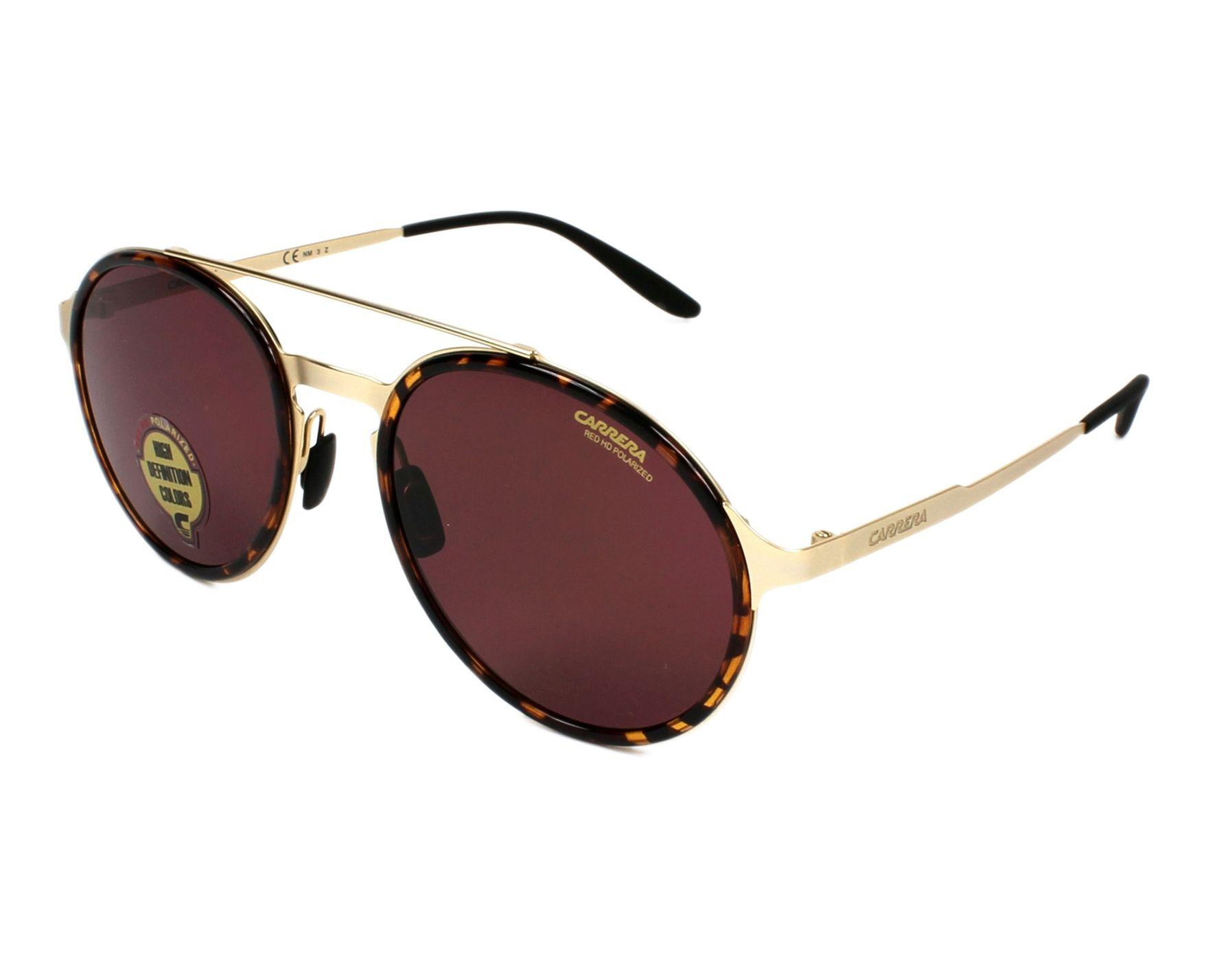 ab7dc40e500 Sunglasses Carrera CARRERA-140-S 8SO W6 53-20 Gold Havana profile