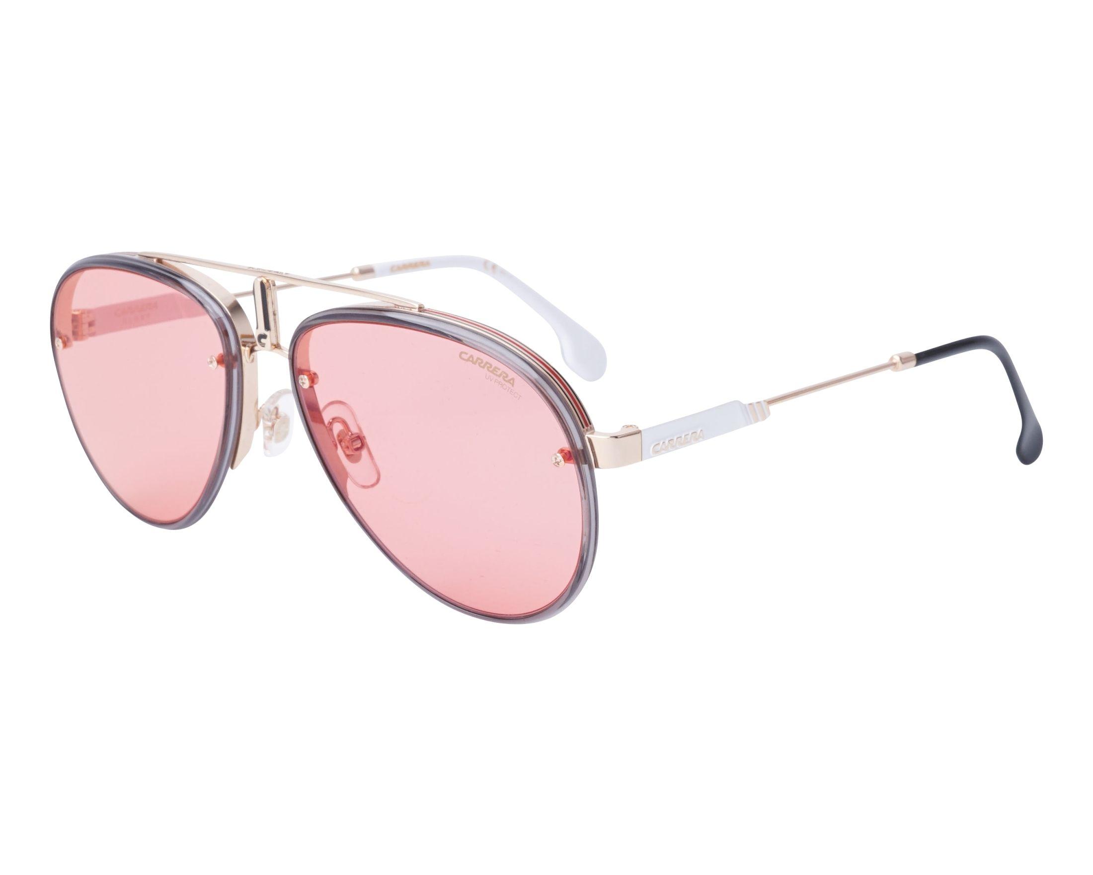 511933e133 Sunglasses Carrera GLORY Y11UZ 58-17 Gold Grey profile view