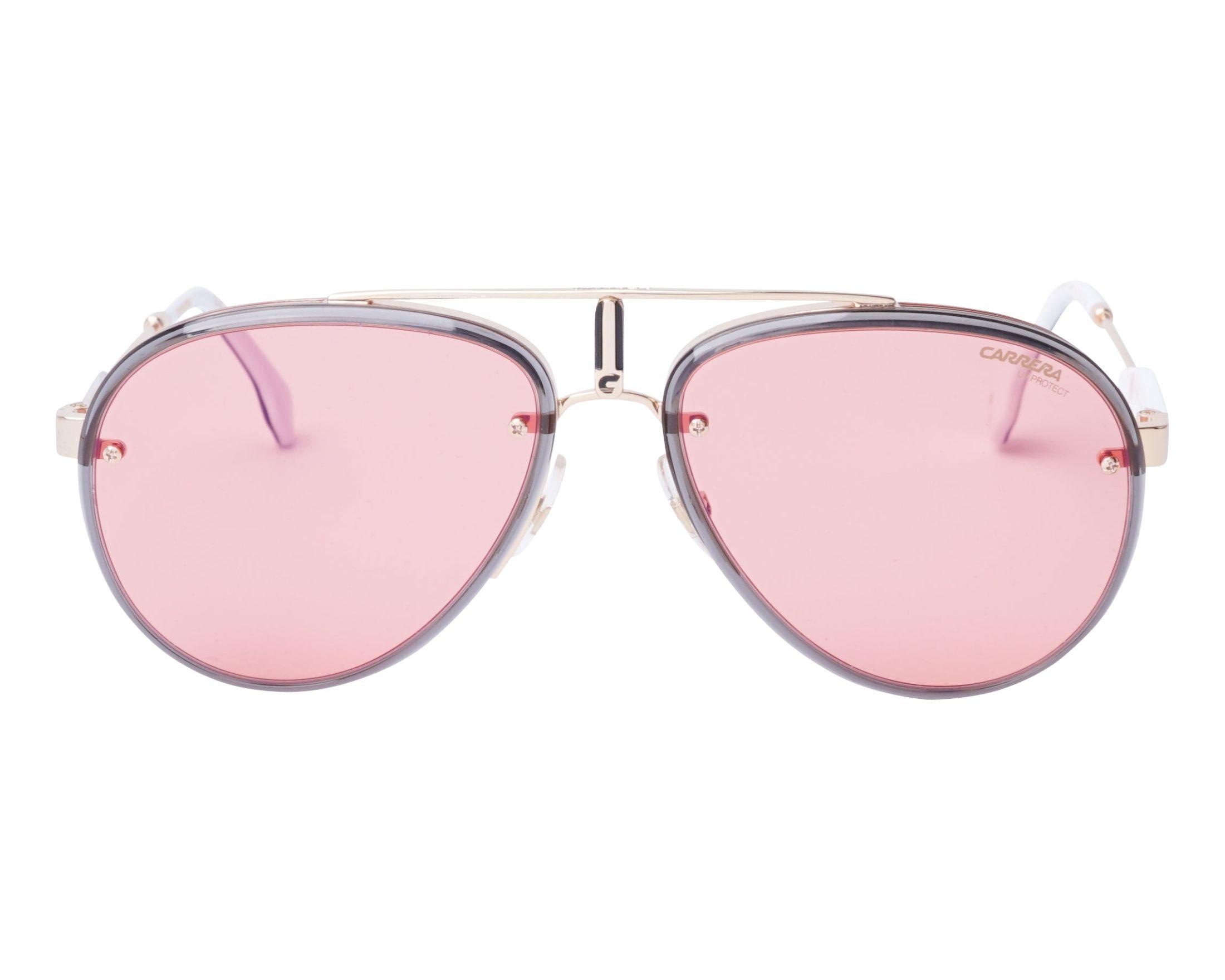 b43856d06f Sunglasses Carrera GLORY Y11UZ 58-17 Gold Grey front view