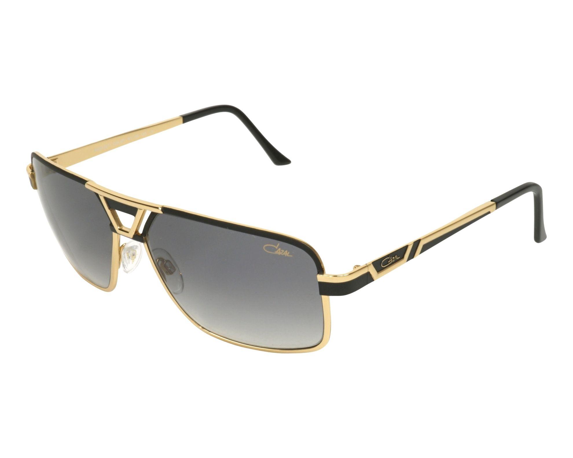 9cba002cbb1 Sunglasses Cazal 9071 001 61-15 Black Gold profile view