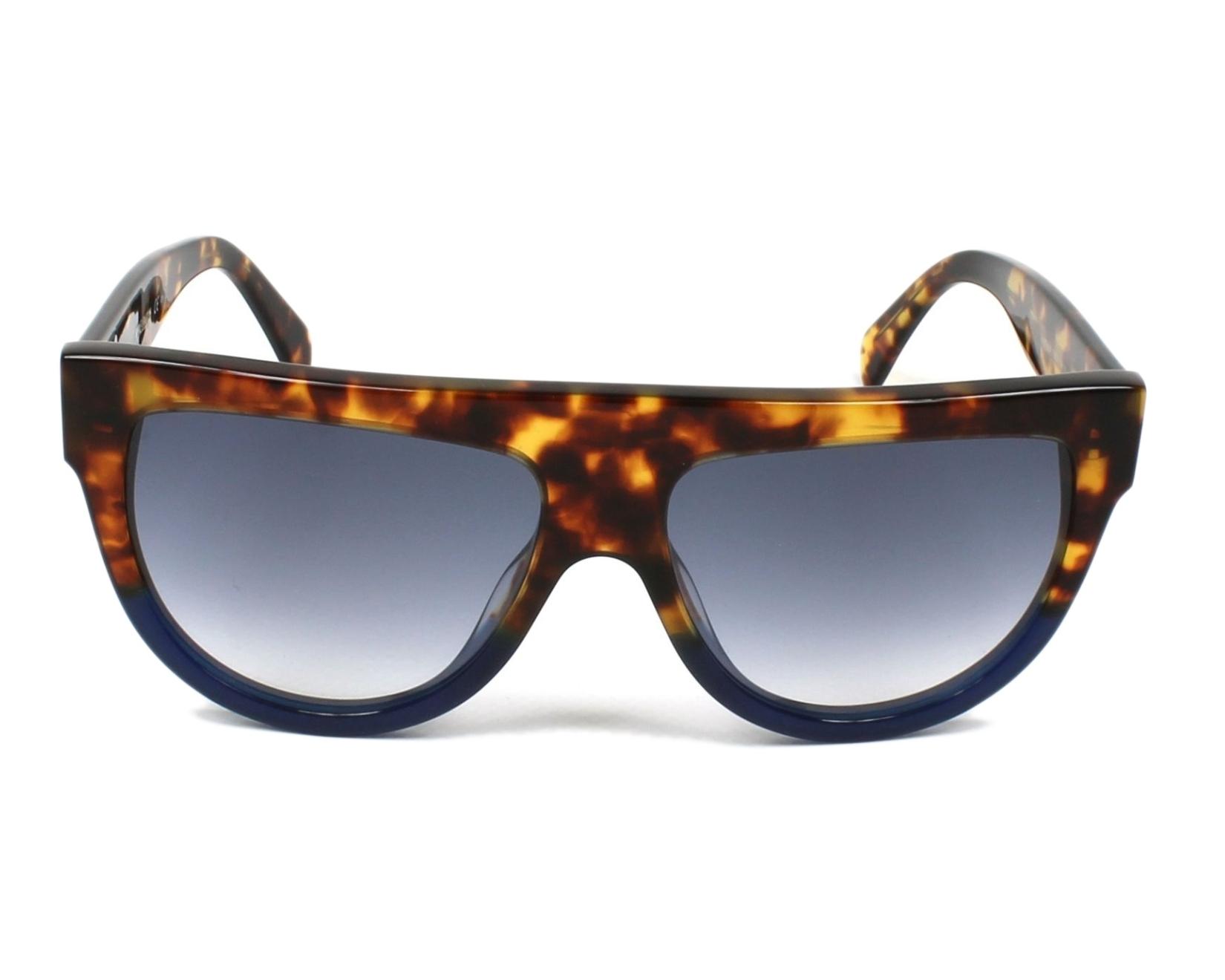 330bc7ea0e8e3 Sunglasses Céline CL-41026 FU9 DV - Havana Blue front view