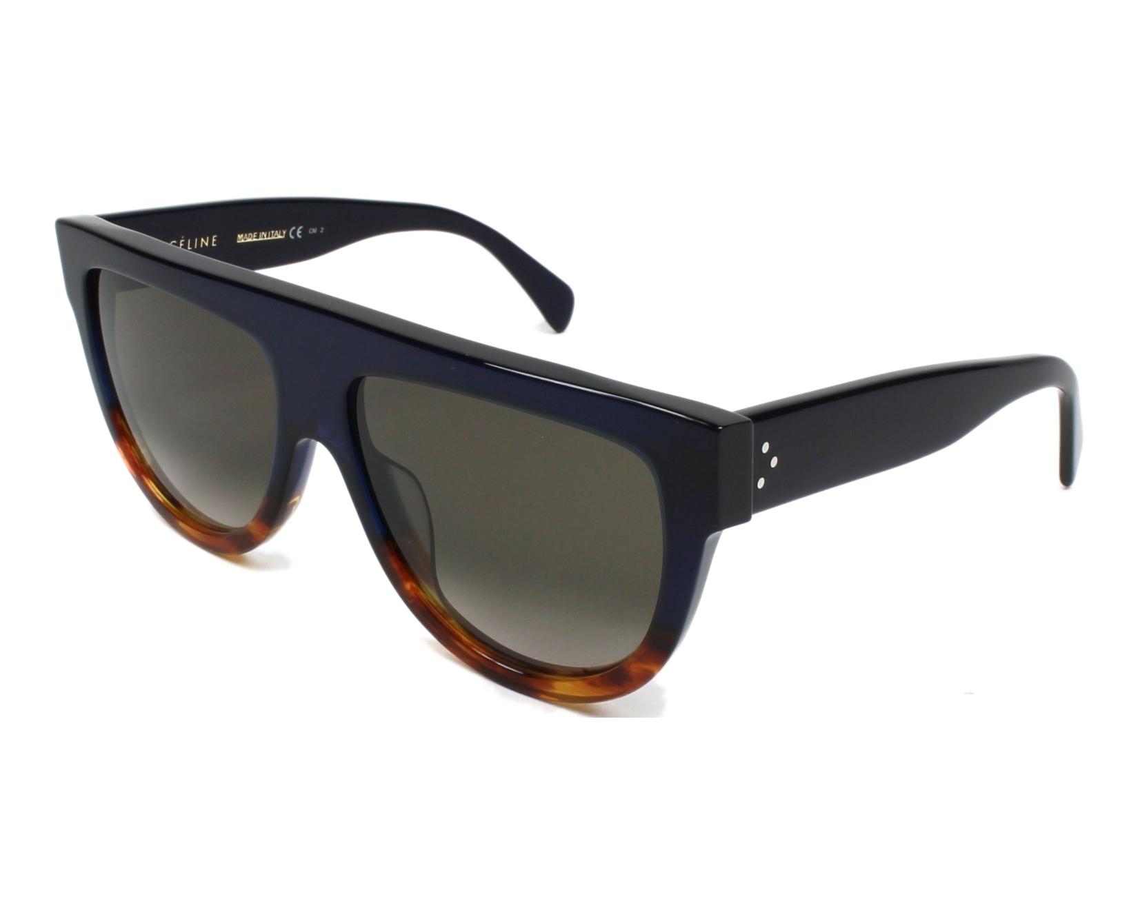 14913c1917d8 Sunglasses Céline CL-41026 QLT Z3 - Blue Havana profile view