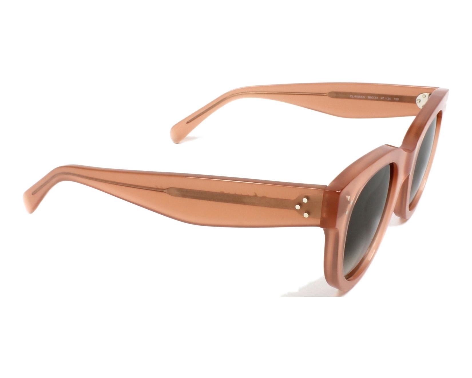 21b1c05af6 thumbnail Sunglasses Céline CL-41053 N80 Z3 - Rosa side view