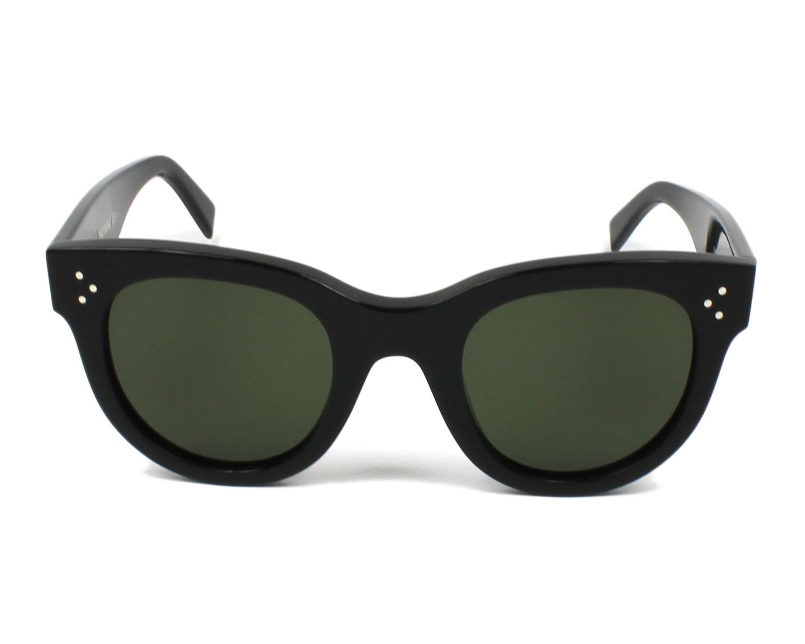 5ff1041ae56 thumbnail Sunglasses Céline CL-41053-S 807 1E - Black front view