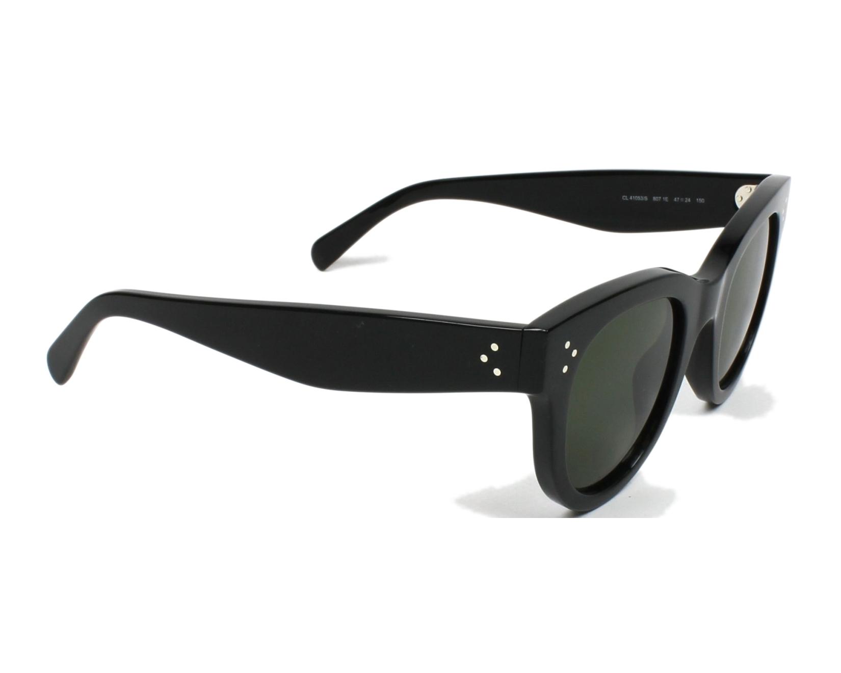 3bb93b7223 thumbnail Sunglasses Céline CL-41053-S 807 1E - Black side view