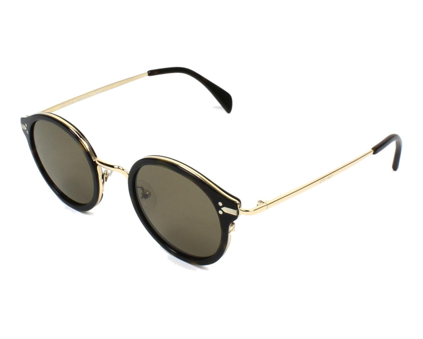 37f4a594c3dab thumbnail Sunglasses Céline CL-41082-S ANT X7 - Havana Gold profile view