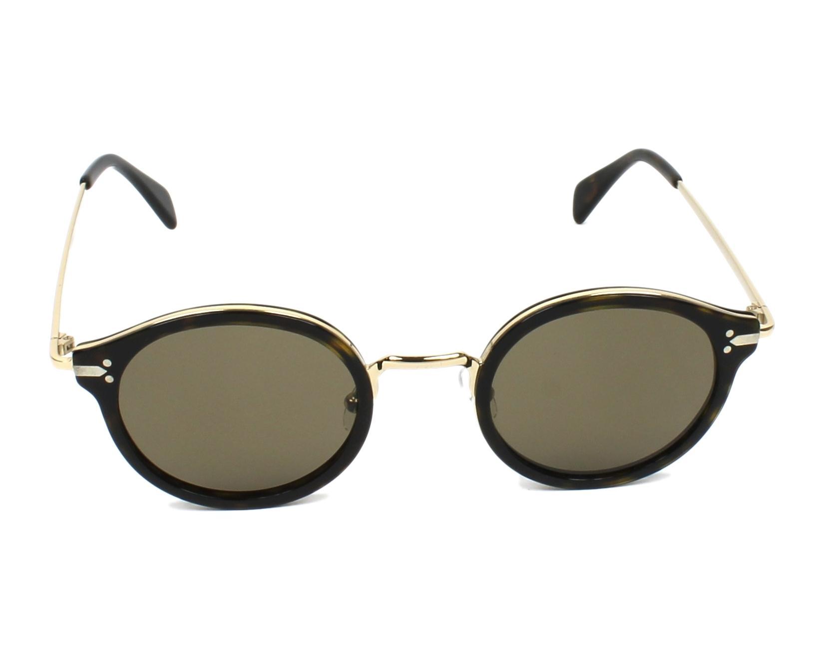 016d61c1d3bef thumbnail Sunglasses Céline CL-41082-S ANT X7 - Havana Gold front view
