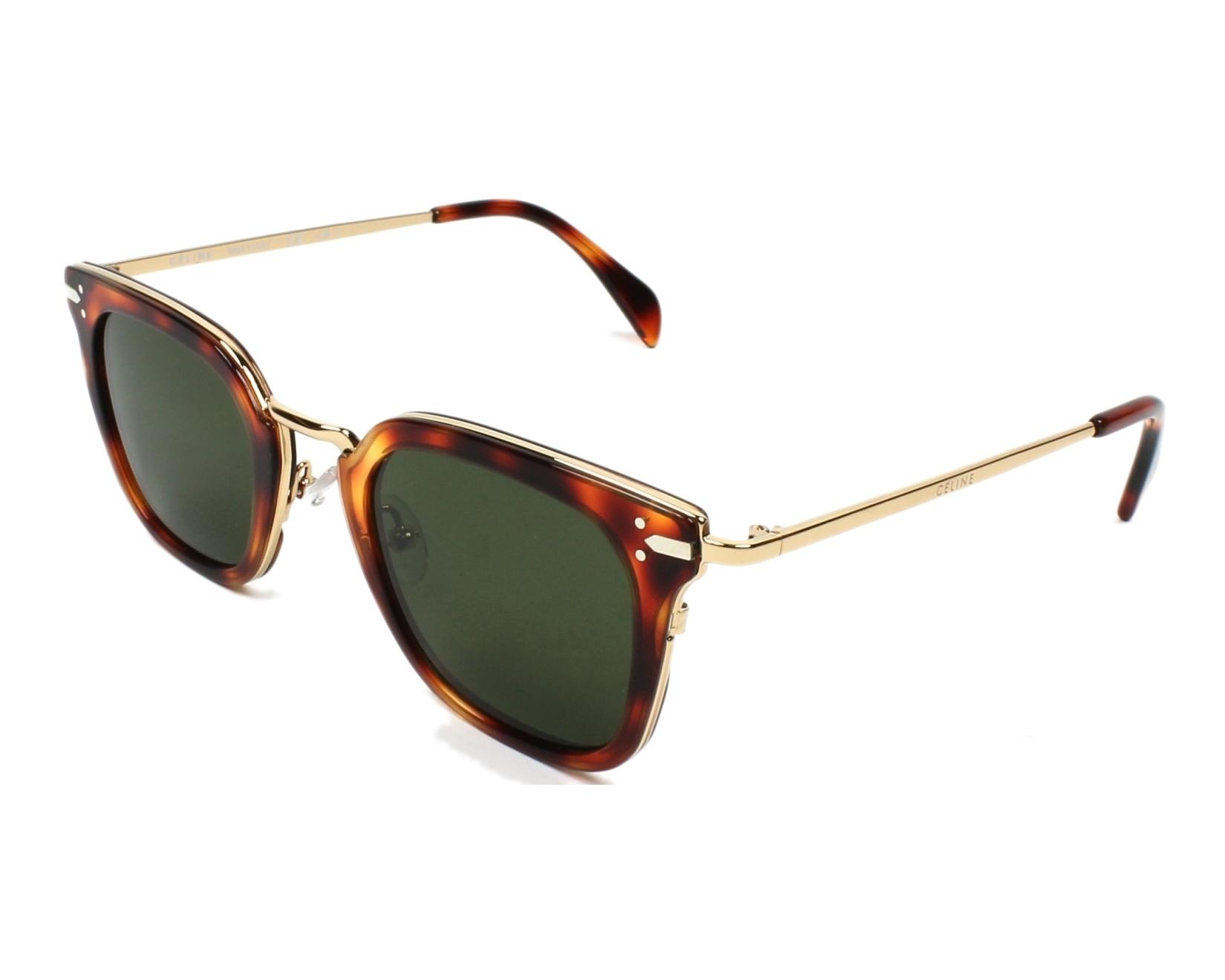510115a0e39 Sunglasses Céline CL-41402 3UA 1E 47-25 Havana Gold profile view