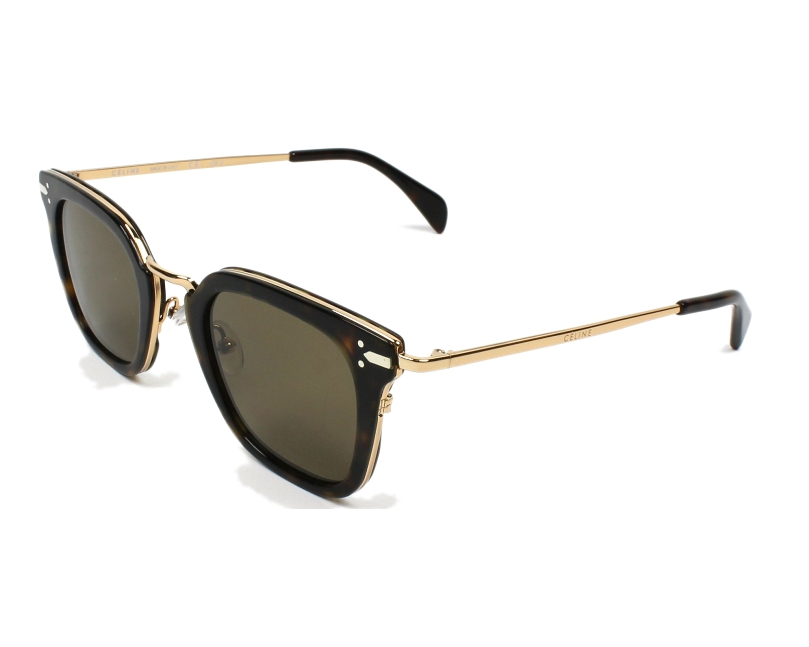 1d5afcdde37 Sunglasses Céline CL-41402 ANT X7 - Havana Gold profile view