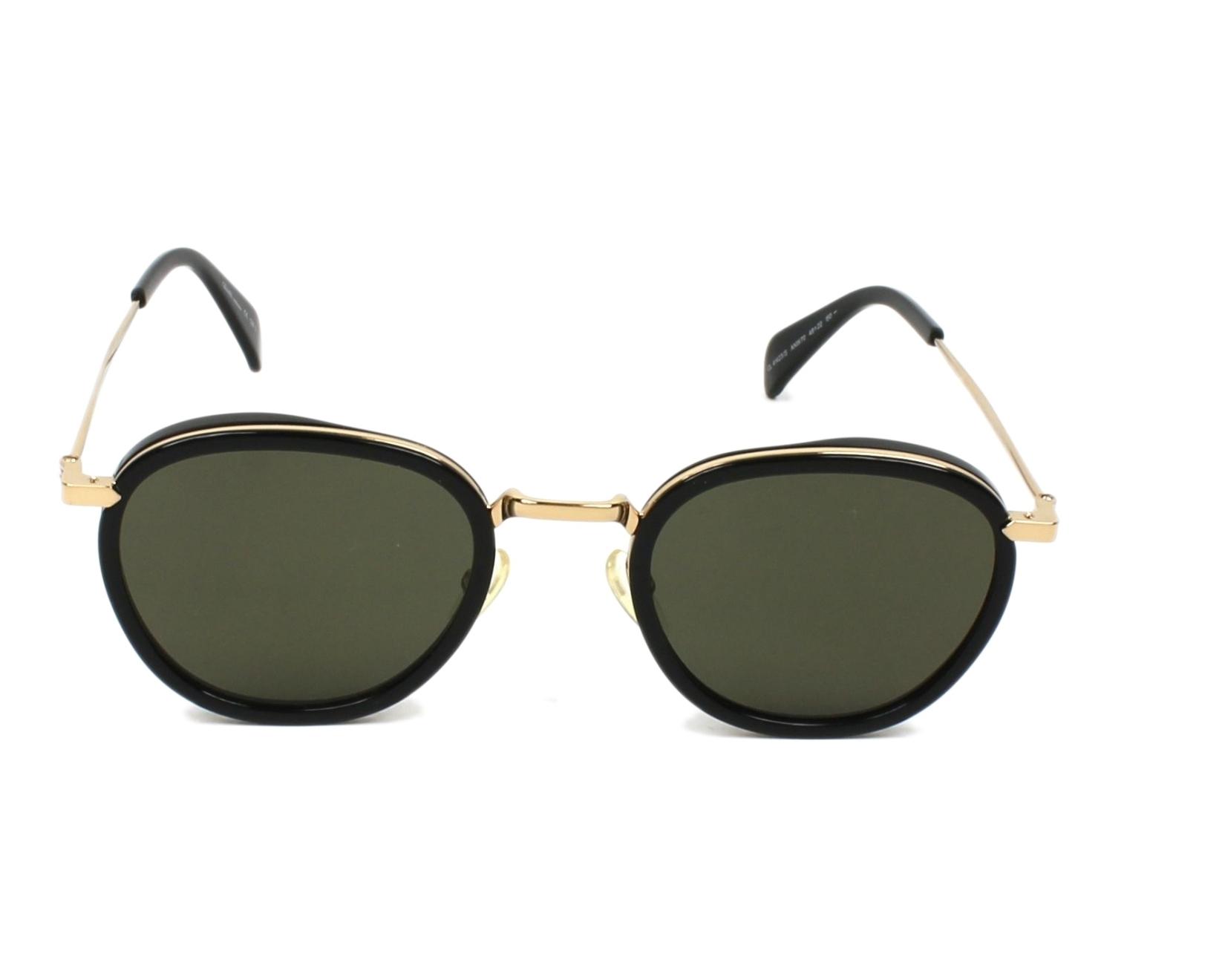 bd32ea64f957 Sunglasses Céline CL-41423 ANW 70 48-22 Black Gold front view