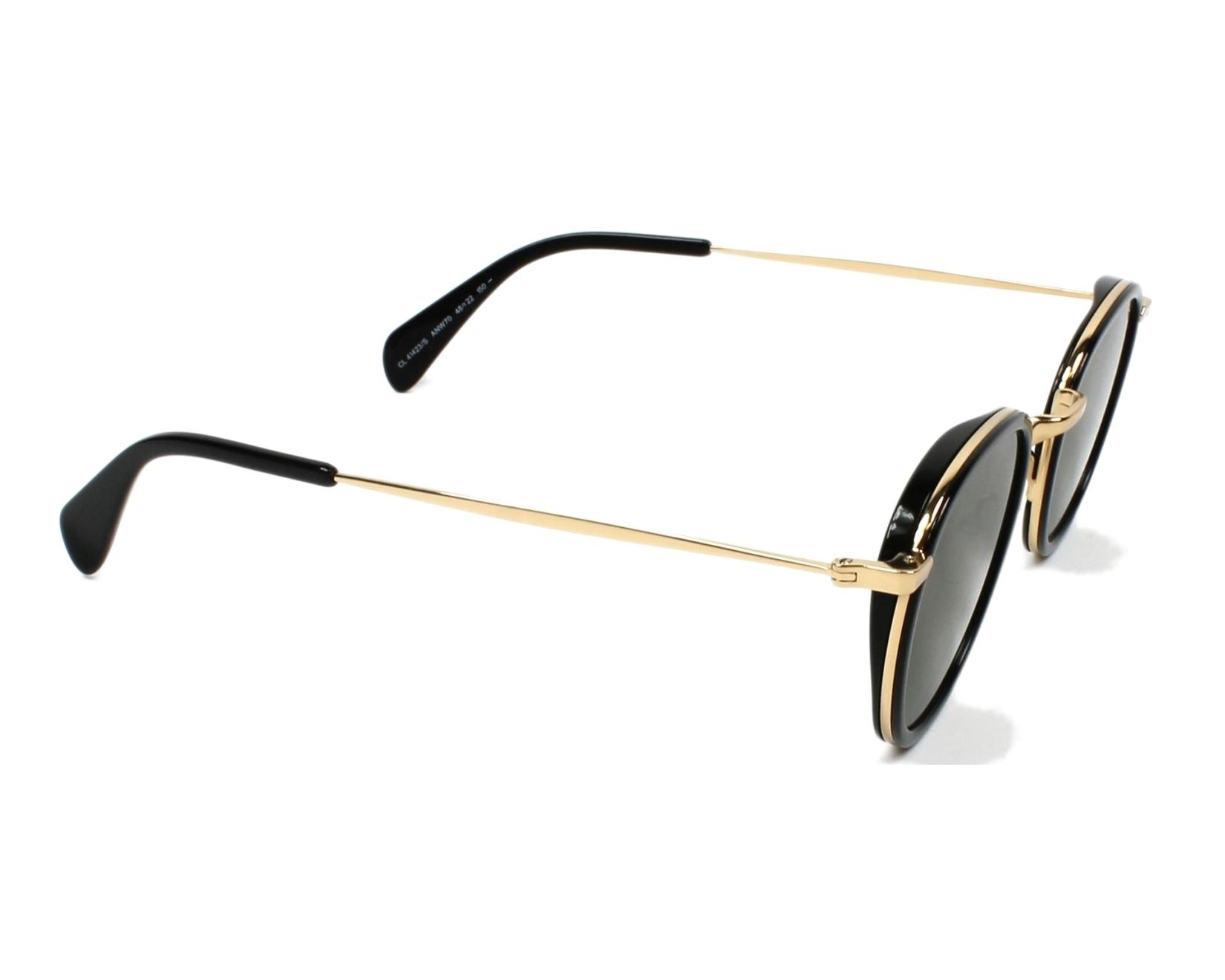 d0ad31655cef Sunglasses Céline CL-41423 ANW 70 48-22 Black Gold side view