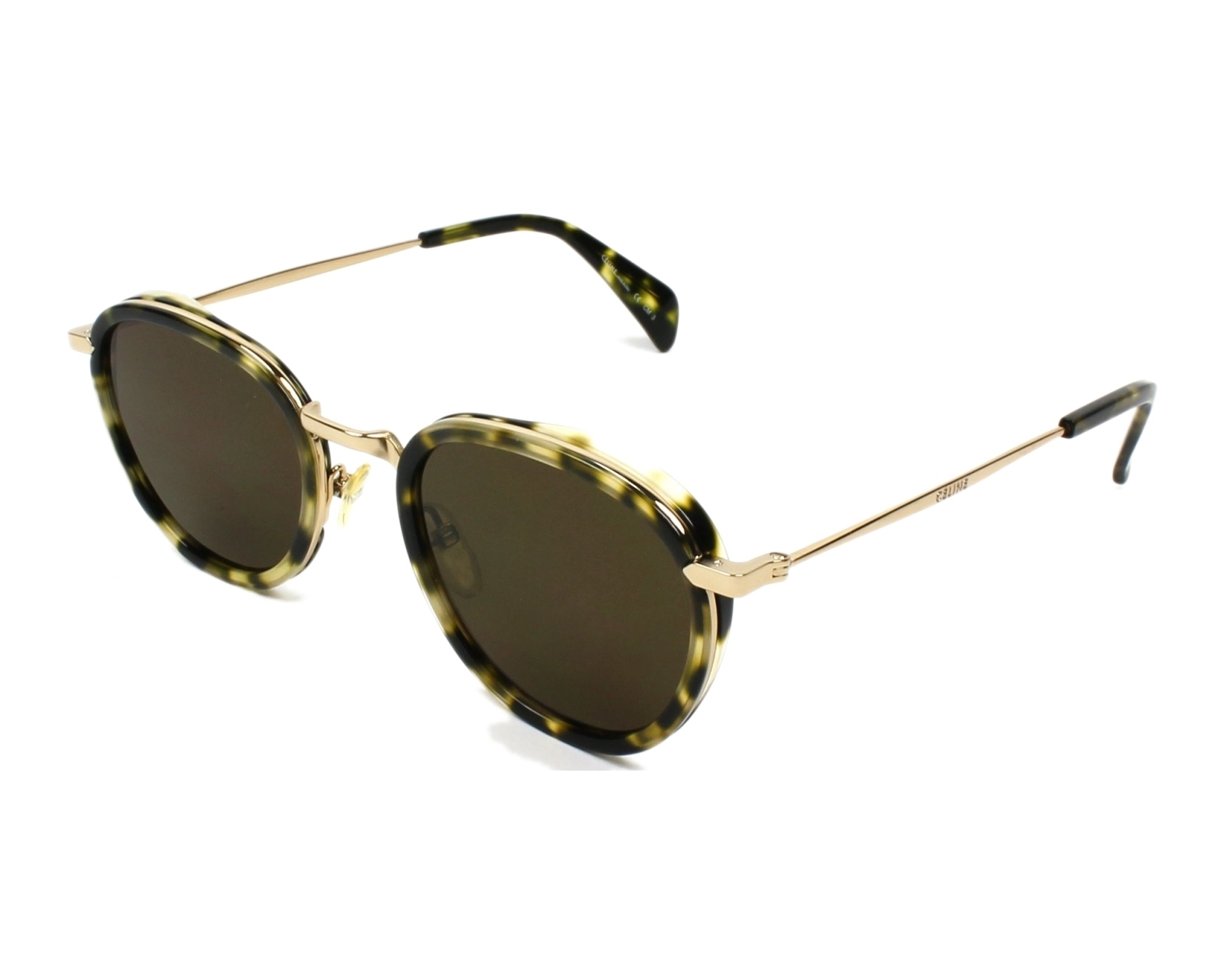 8b5ebe8549f01 Sunglasses Céline CL-41423 J1L EC 48-22 Havana Gold profile view