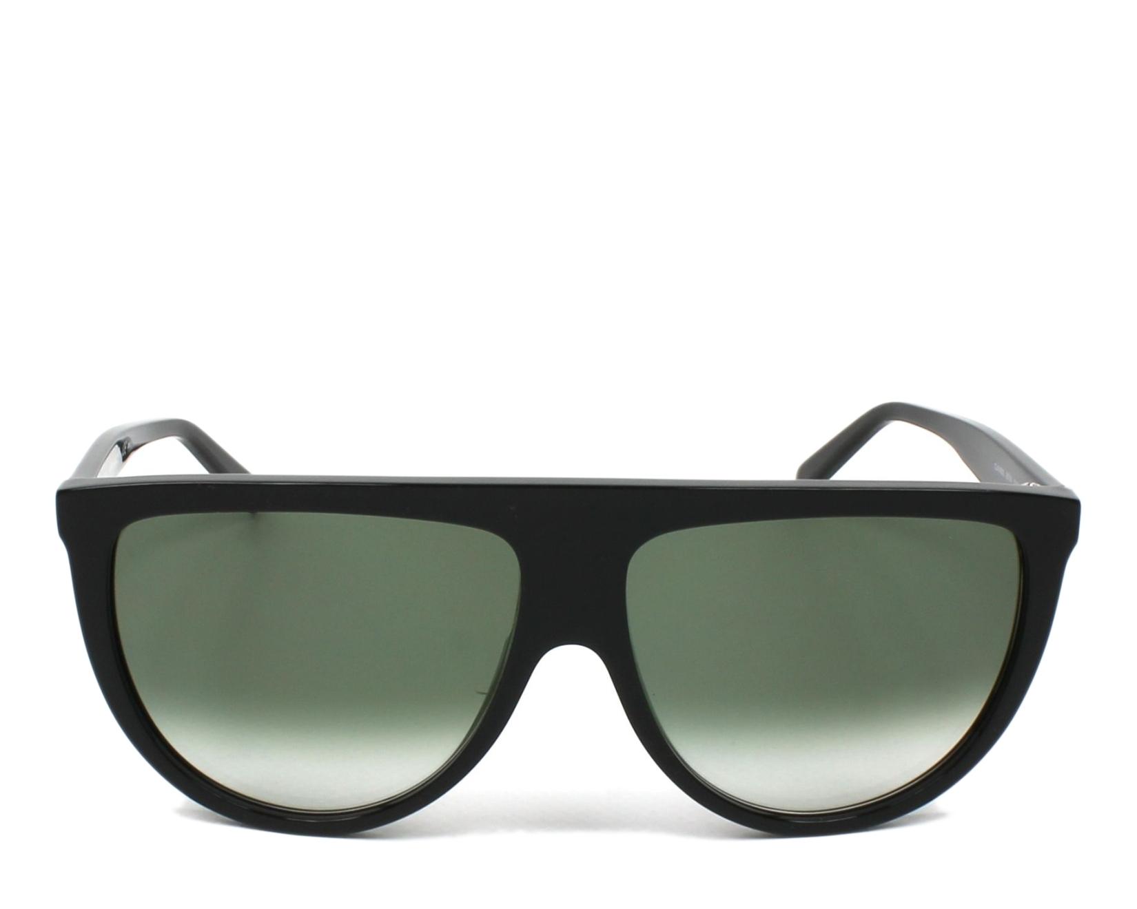 12c2250c036 thumbnail Sunglasses Céline CL-41435-S 807 XM - Black front view