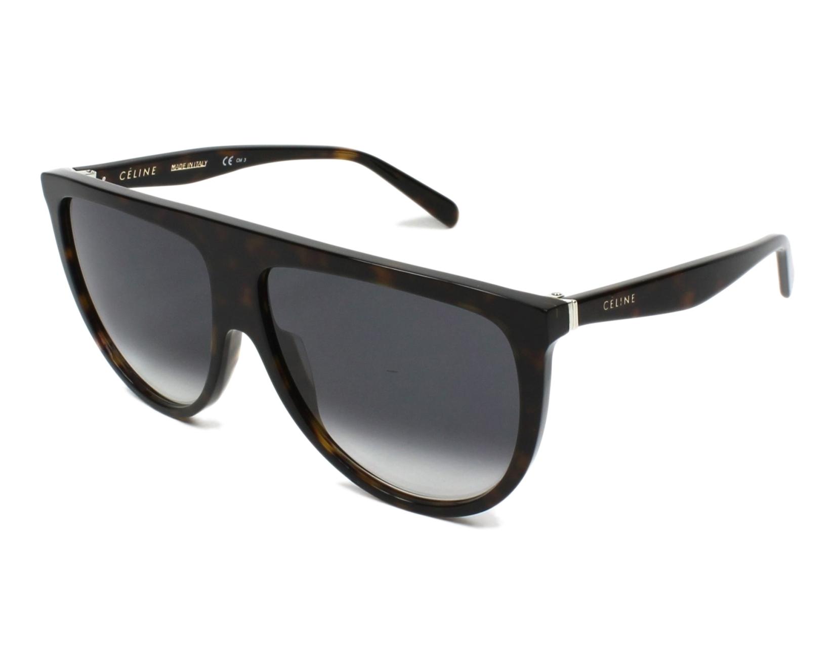 b12b541f28f2 thumbnail Sunglasses Céline CL-41435-S O86 W2 - Havana profile view