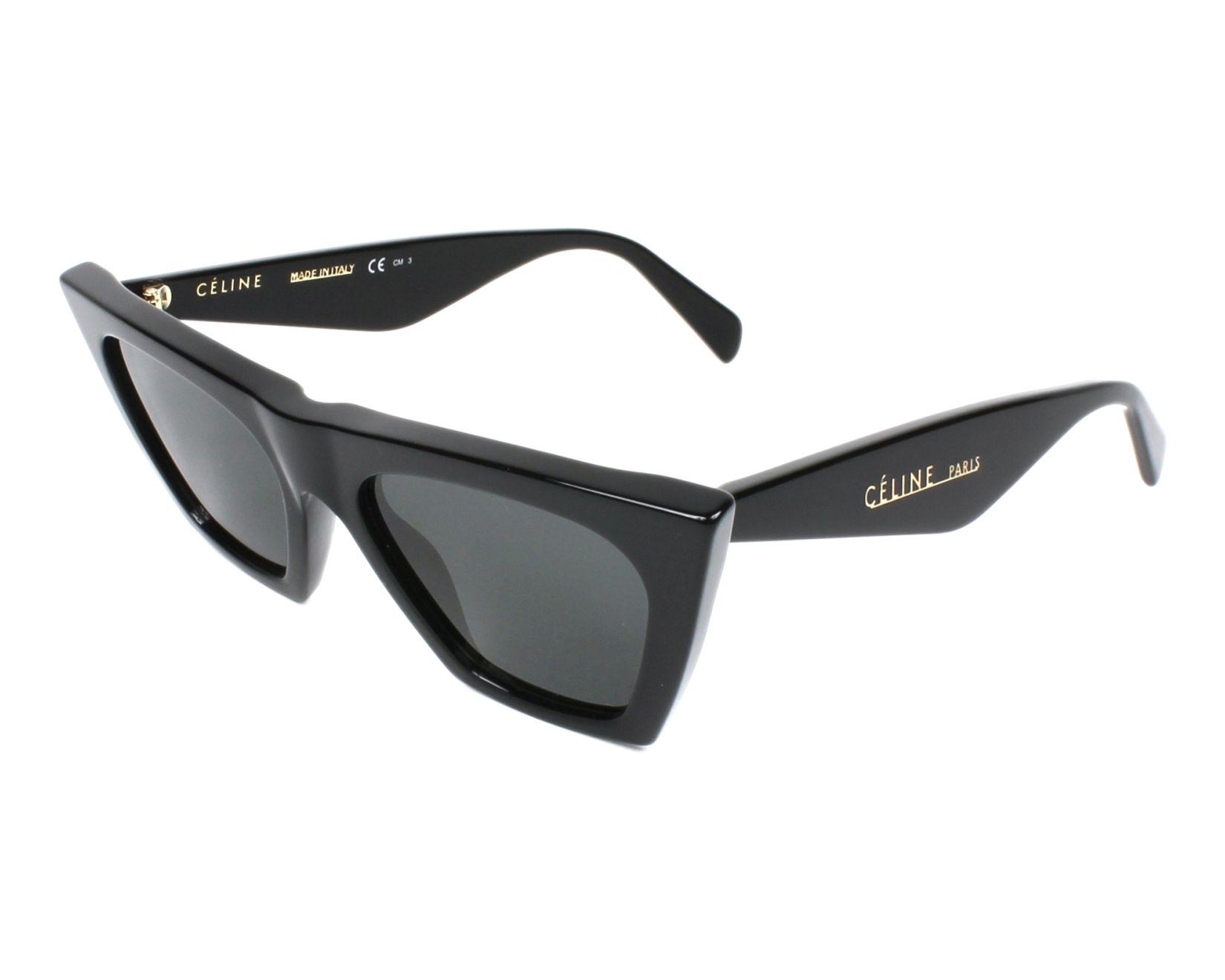 9f92cc7e7ba thumbnail Sunglasses Céline CL-41468-S 807 IR - Black profile view