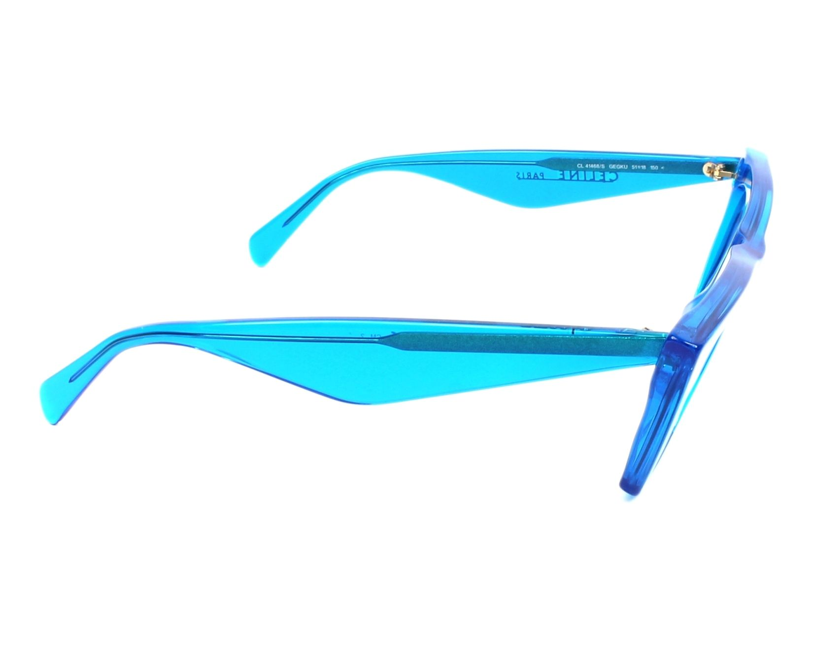 2c55f5ce6a6 thumbnail Sunglasses Céline CL-41468-S GEG KU - Blue side view