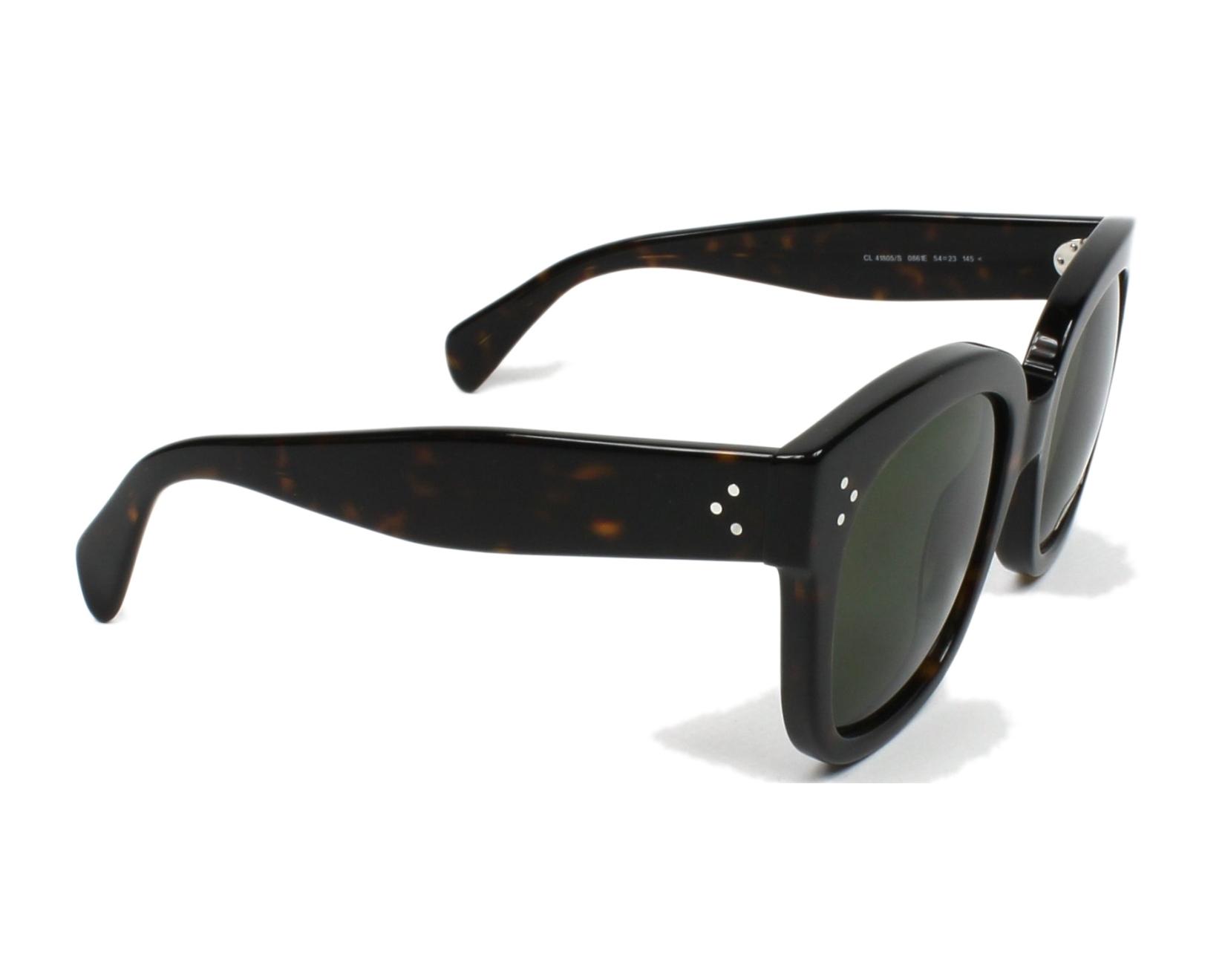 86eccbc50d4c thumbnail Sunglasses Céline CL-41805-S 086 1E - Havana side view