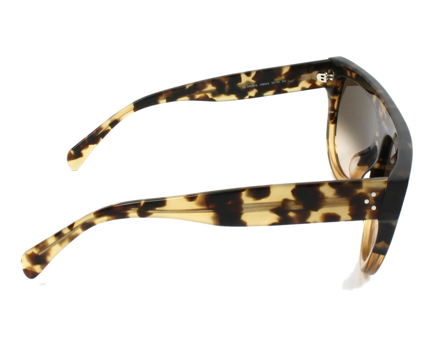 ef03a9a87a1 thumbnail Sunglasses Céline CL-41026-S VNN X9 58-16 Havana Beige