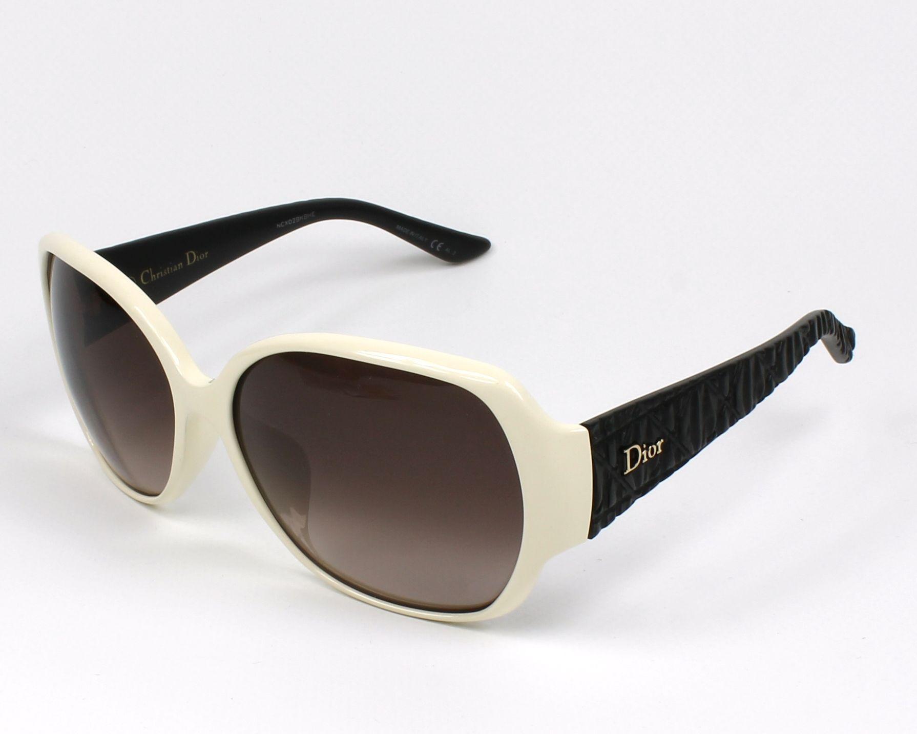 f93447dba4b07 Sunglasses Christian Dior DIORFRISSONF KG1 D8 60-15 White Black profile view