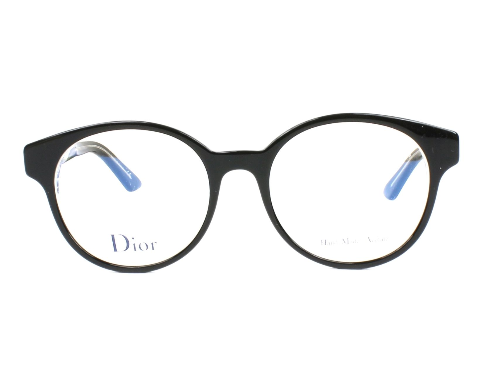 7ab3251679 eyeglasses Christian Dior MONTAIGNE-9 G99 51-18 Black Crystal front view