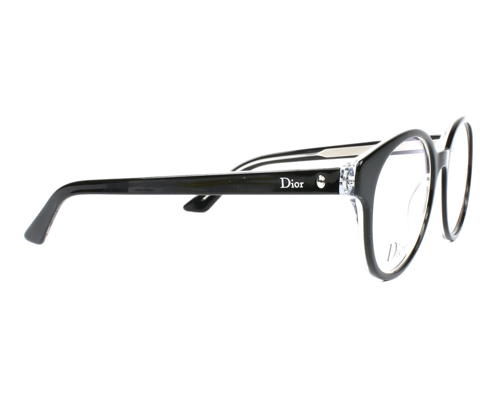 5f16ecf2fe eyeglasses Christian Dior MONTAIGNE-9 G99 51-18 Black Crystal side view