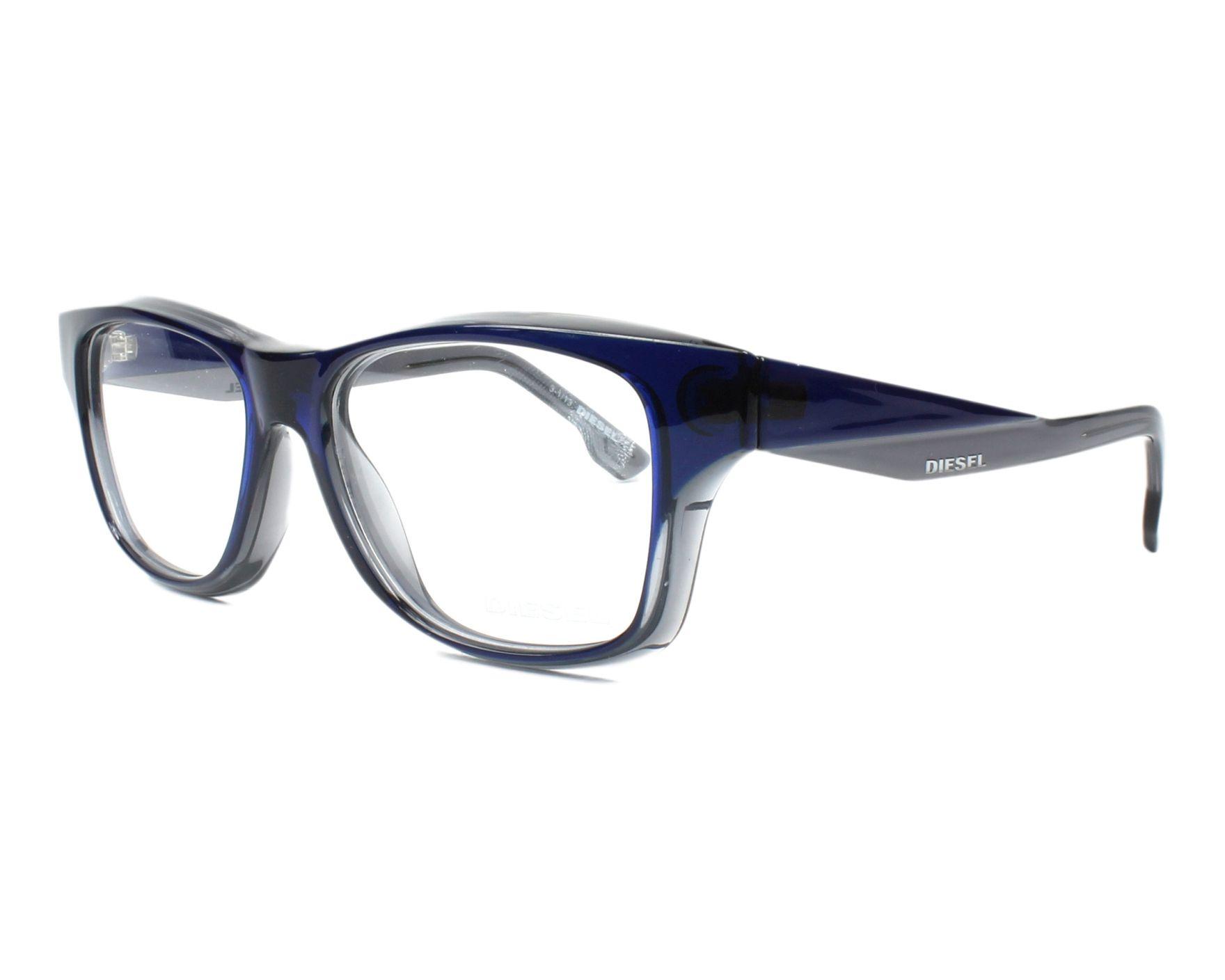 1e5101185a eyeglasses Diesel DL-5065 096 52-15 Blue profile view