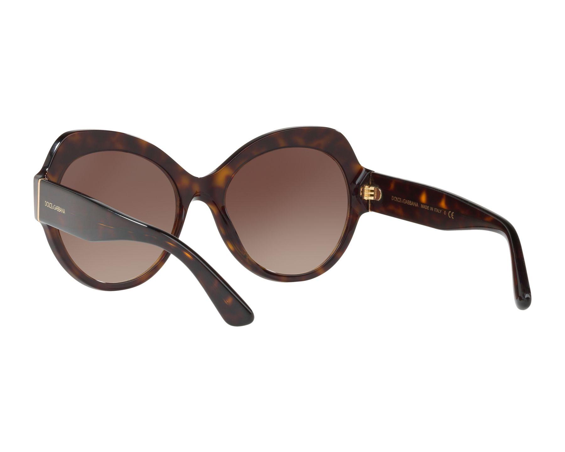 2eecc38a40 Sunglasses Dolce & Gabbana DG-4320 502/13 - Havana 360 degree view 6
