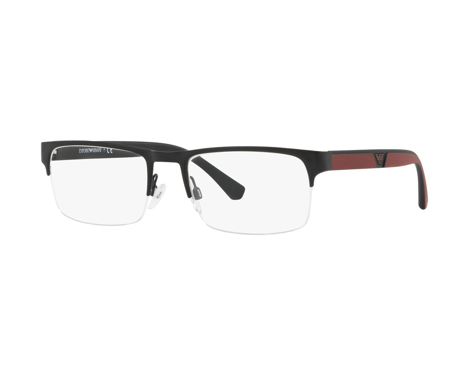 cf7e6eca31 eyeglasses Emporio Armani EA-1072 3001 55-19 Black Bordeaux