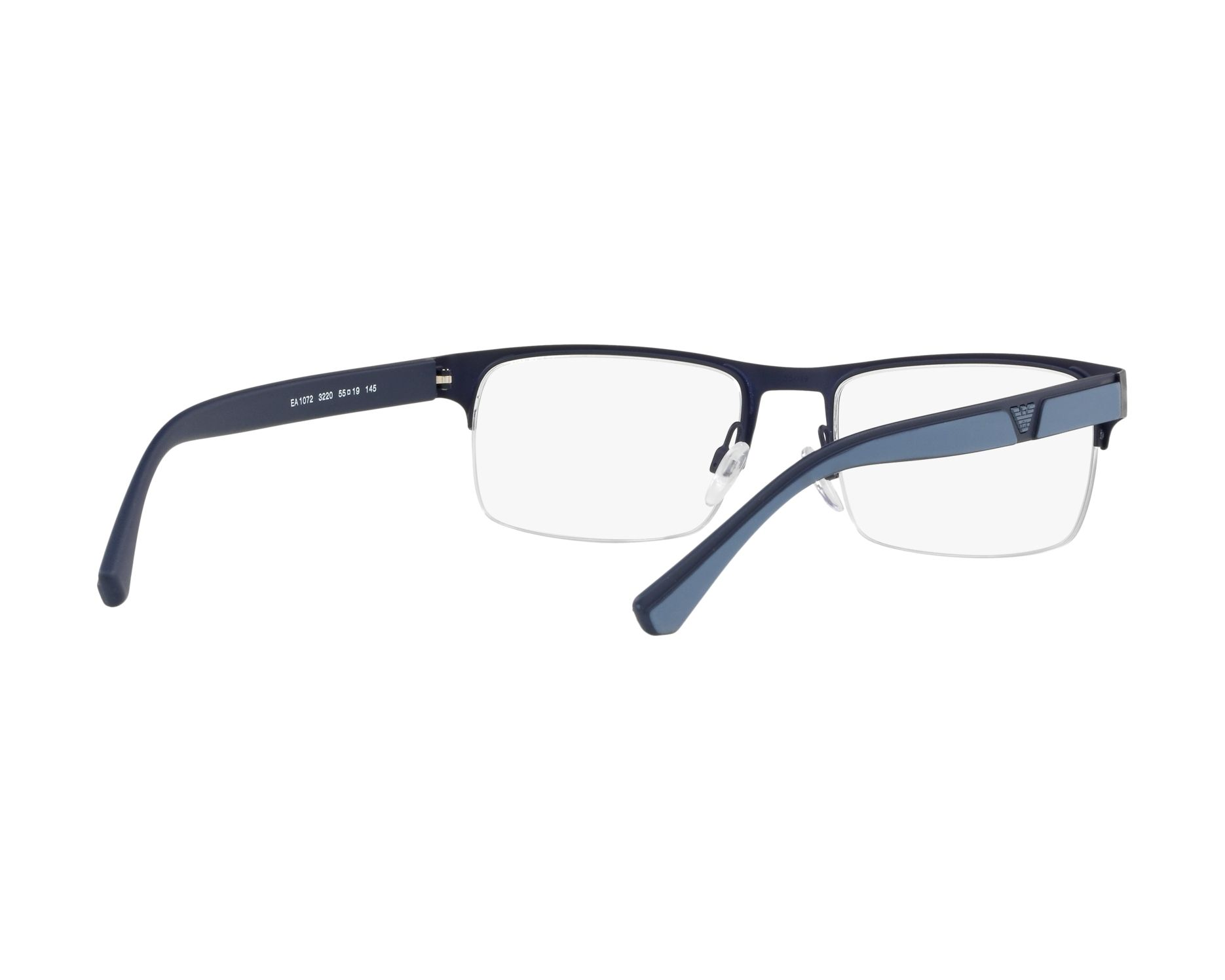 819314b57c eyeglasses Emporio Armani EA-1072 3220 55-19 Blue 360 degree view 8