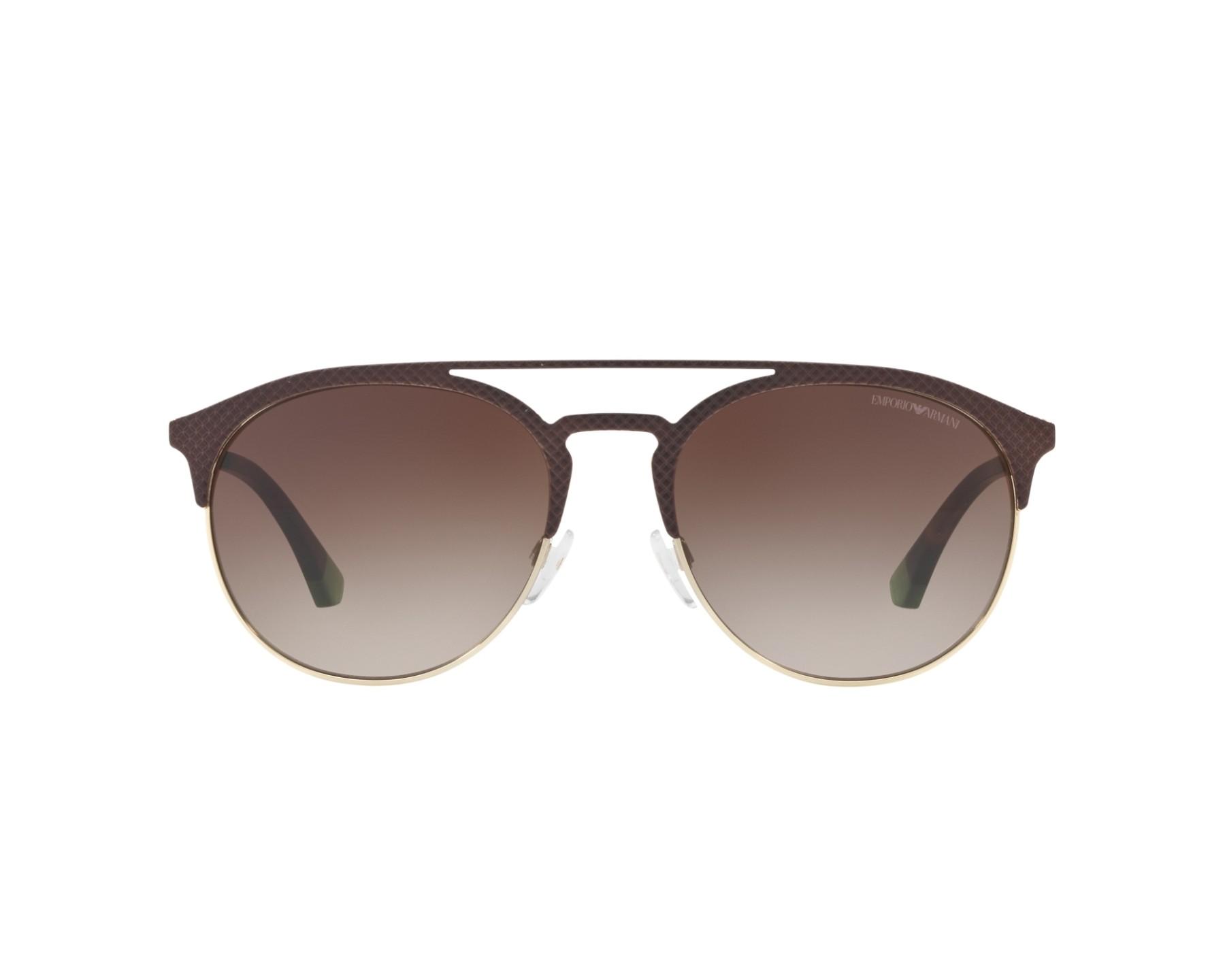 1cf82aed3ff Sunglasses Emporio Armani EA-2052 3182 13 56-19 Brown Gold 360 degree