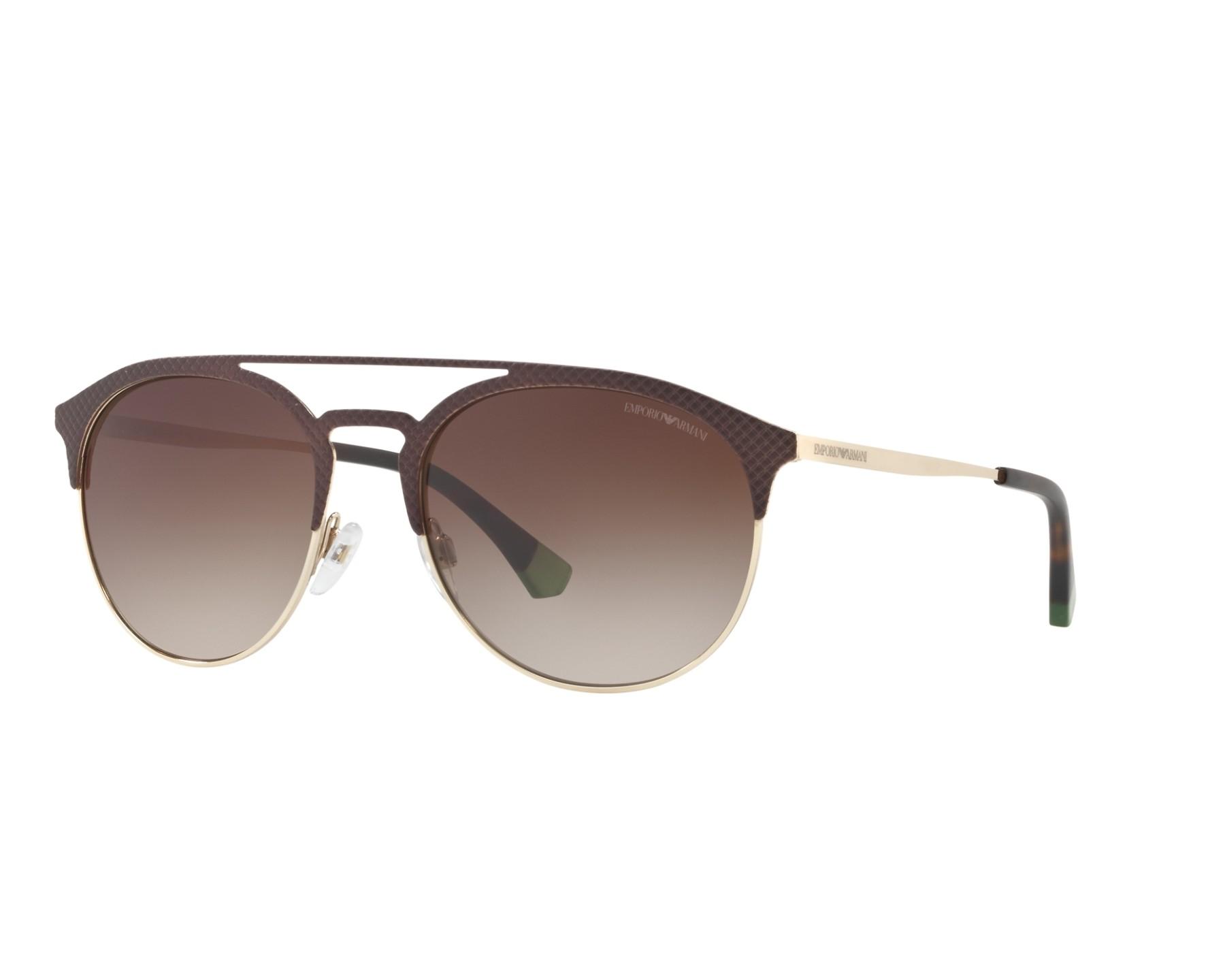 51a161660693 Sunglasses Emporio Armani EA-2052 3182 13 56-19 Brown Gold