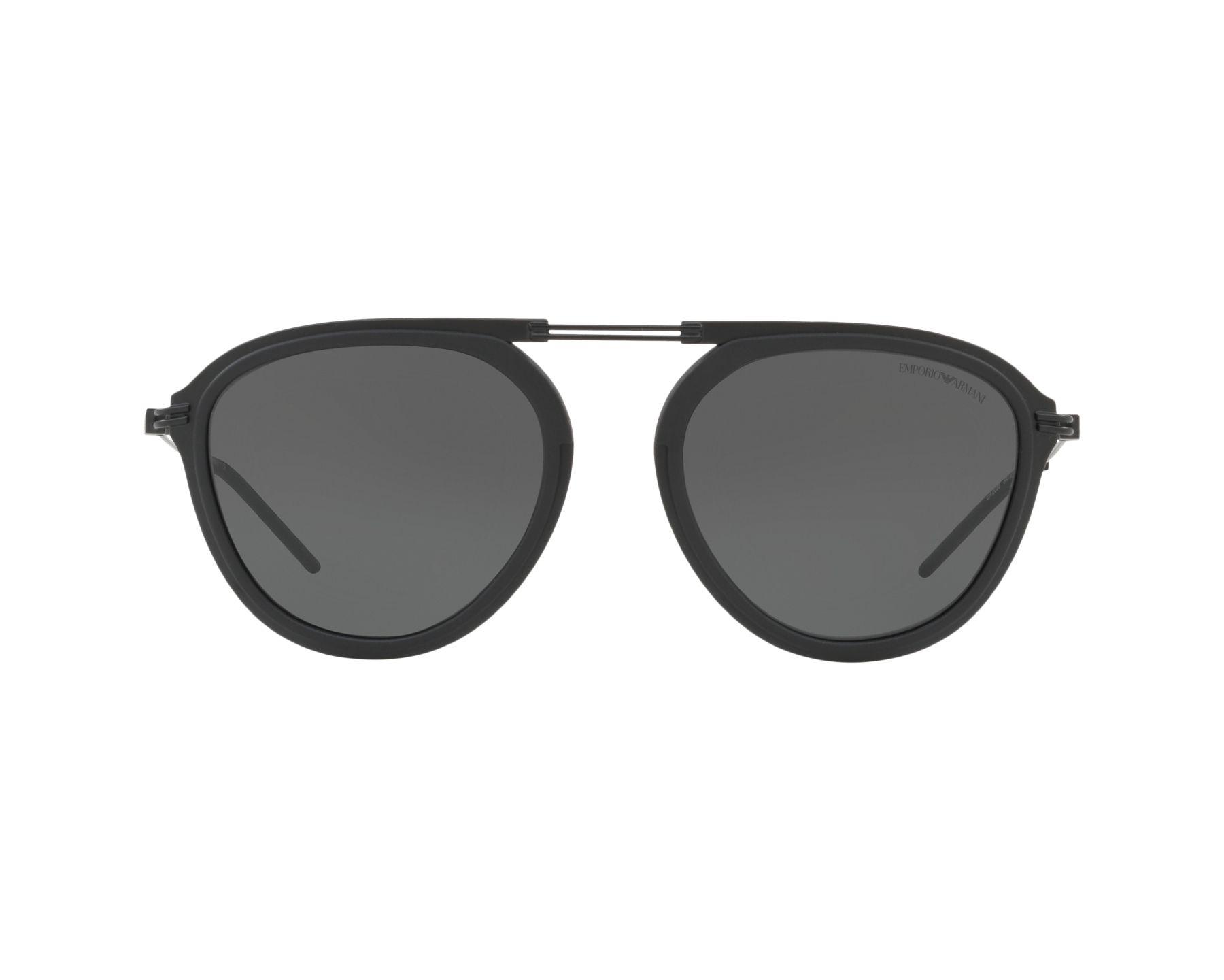 3361cb4d452 Sunglasses Emporio Armani EA-2056 300187 54-19 Black 360 degree view 1