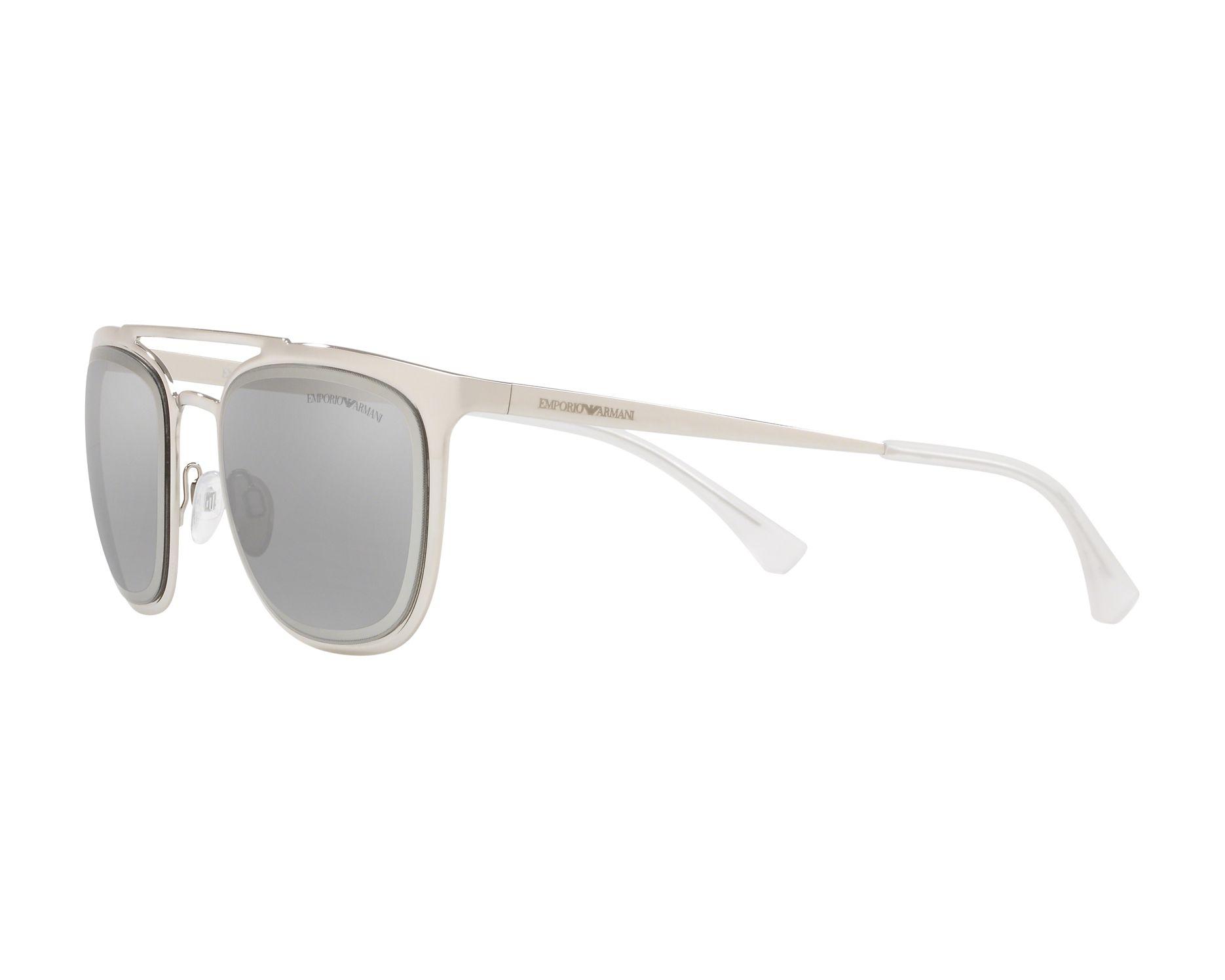 ea58196af Sunglasses Emporio Armani EA-2069 30156G 54-21 Silver 360 degree view 3