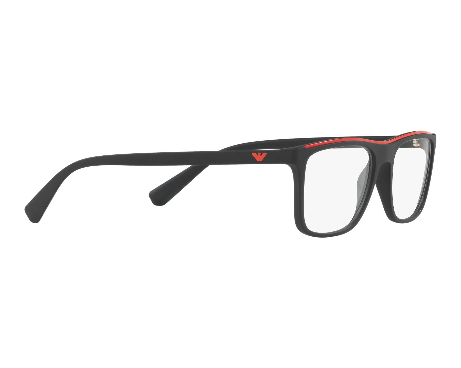 eyeglasses Emporio Armani EA-3124 5042 53-17 Black Red 360 degree view 11 4ede4755b6a0