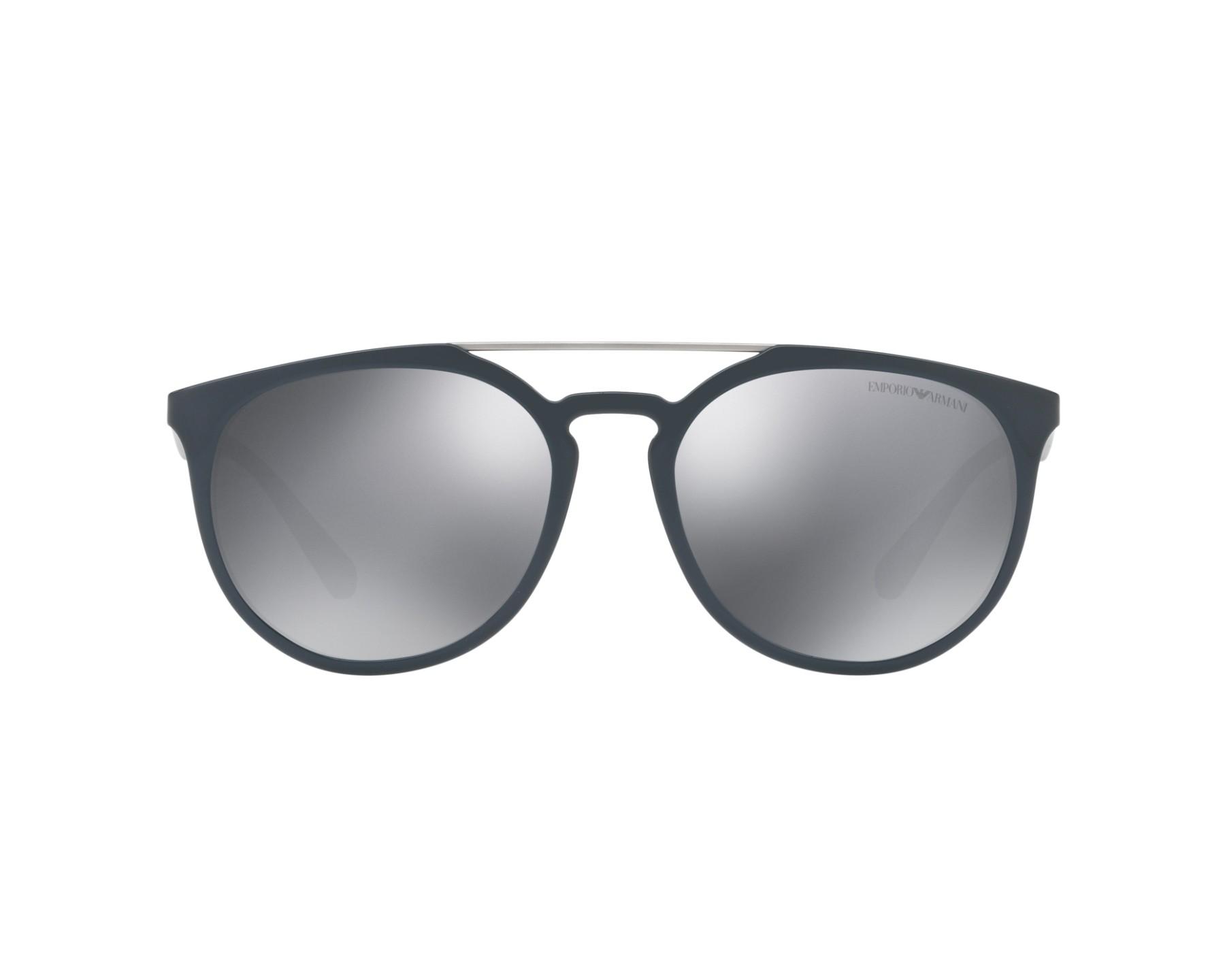 4f29f7a6b74b0 Sunglasses Emporio Armani EA-4103 55966G 56-18 Blue Silver 360 degree view 1