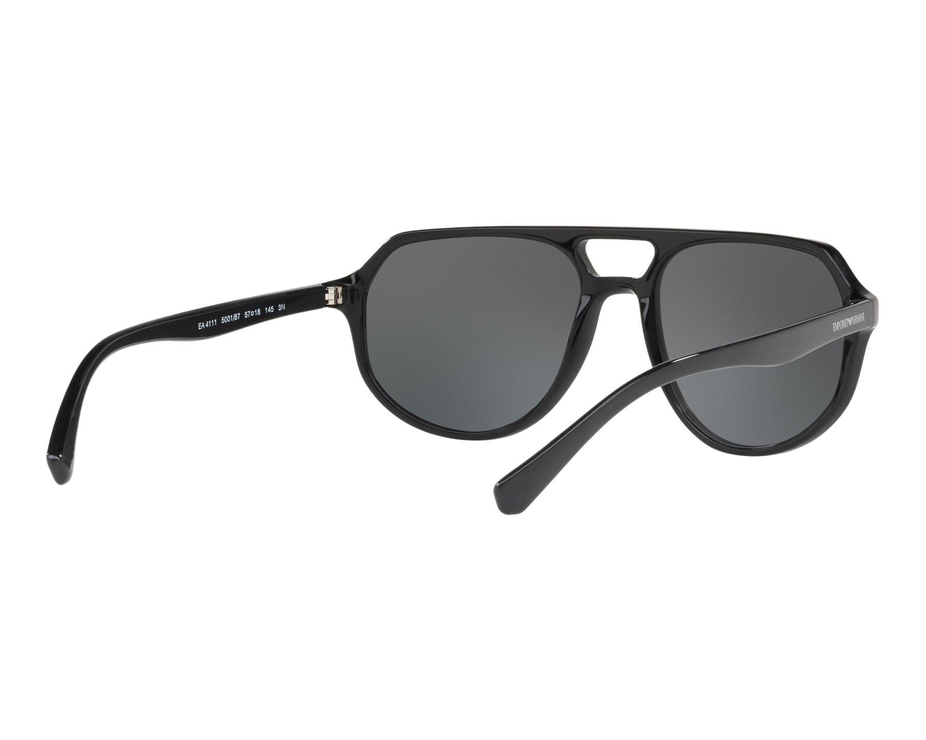 a9a3274993db Sunglasses Emporio Armani EA-4111 500187 57-18 Black 360 degree view 8