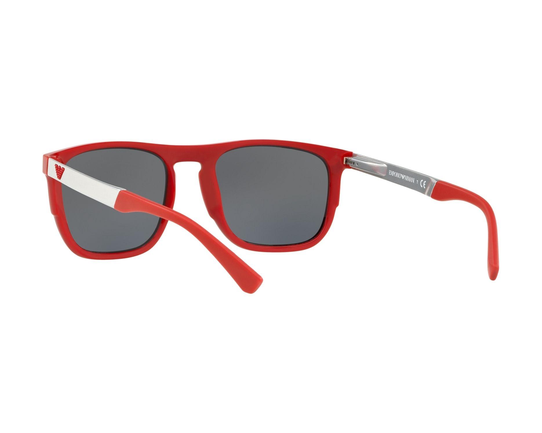 6bf06793e4 Sunglasses Emporio Armani EA-4114 56726G 55-20 Black Red 360 degree view 6