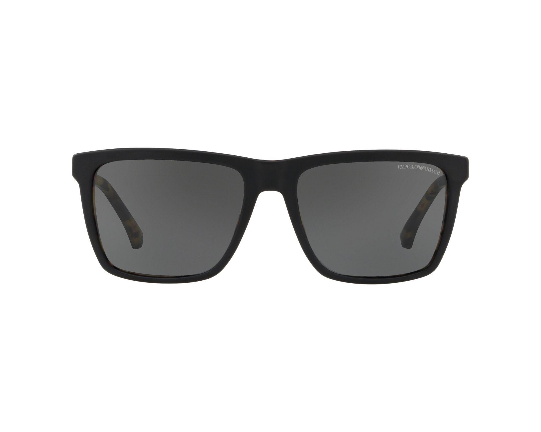 918a75708035 Sunglasses Emporio Armani EA-4117 570187 57-18 Black Havana 360 degree view  1