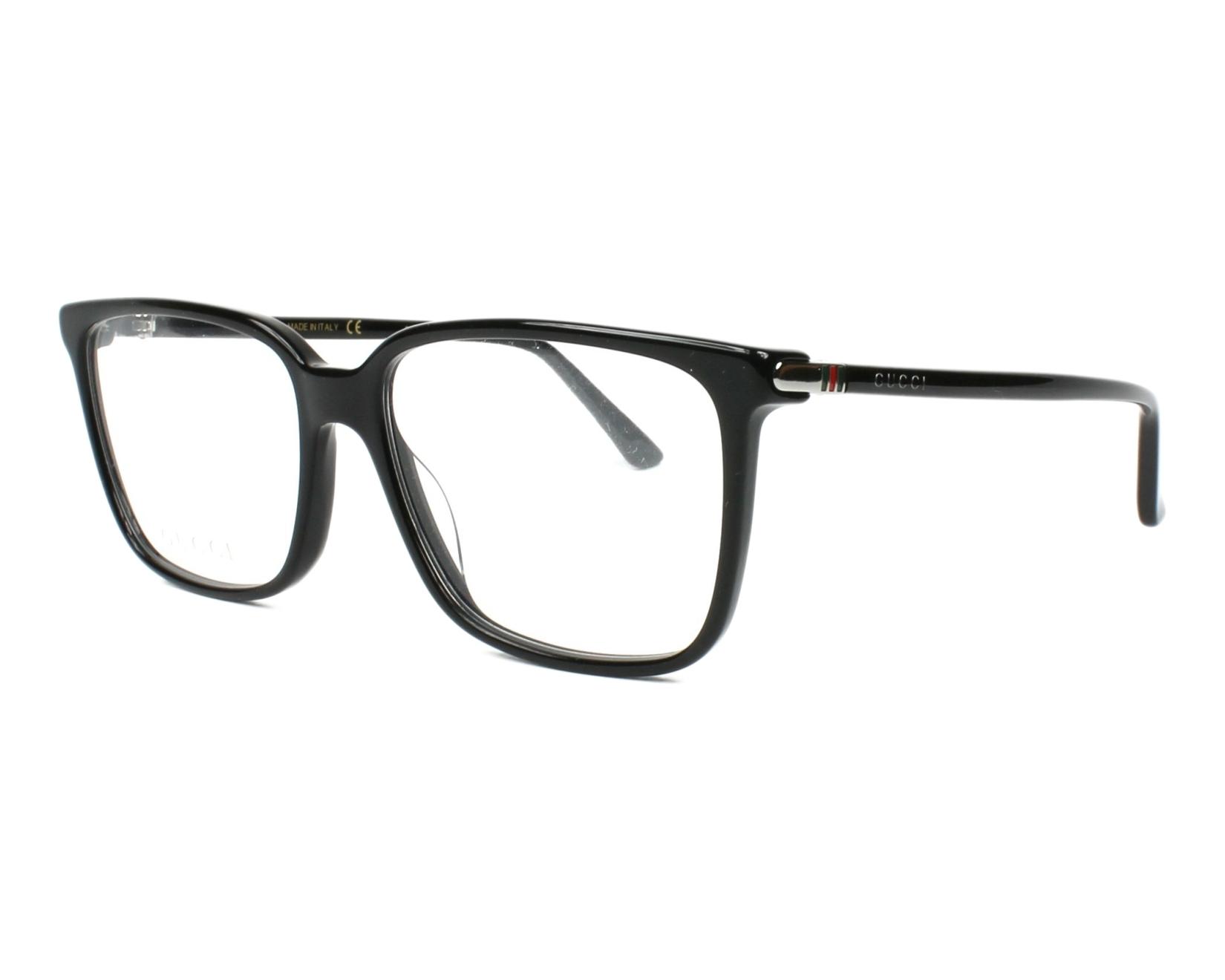 51997730c21 eyeglasses Gucci GG-00190 001 56-16 Black profile view