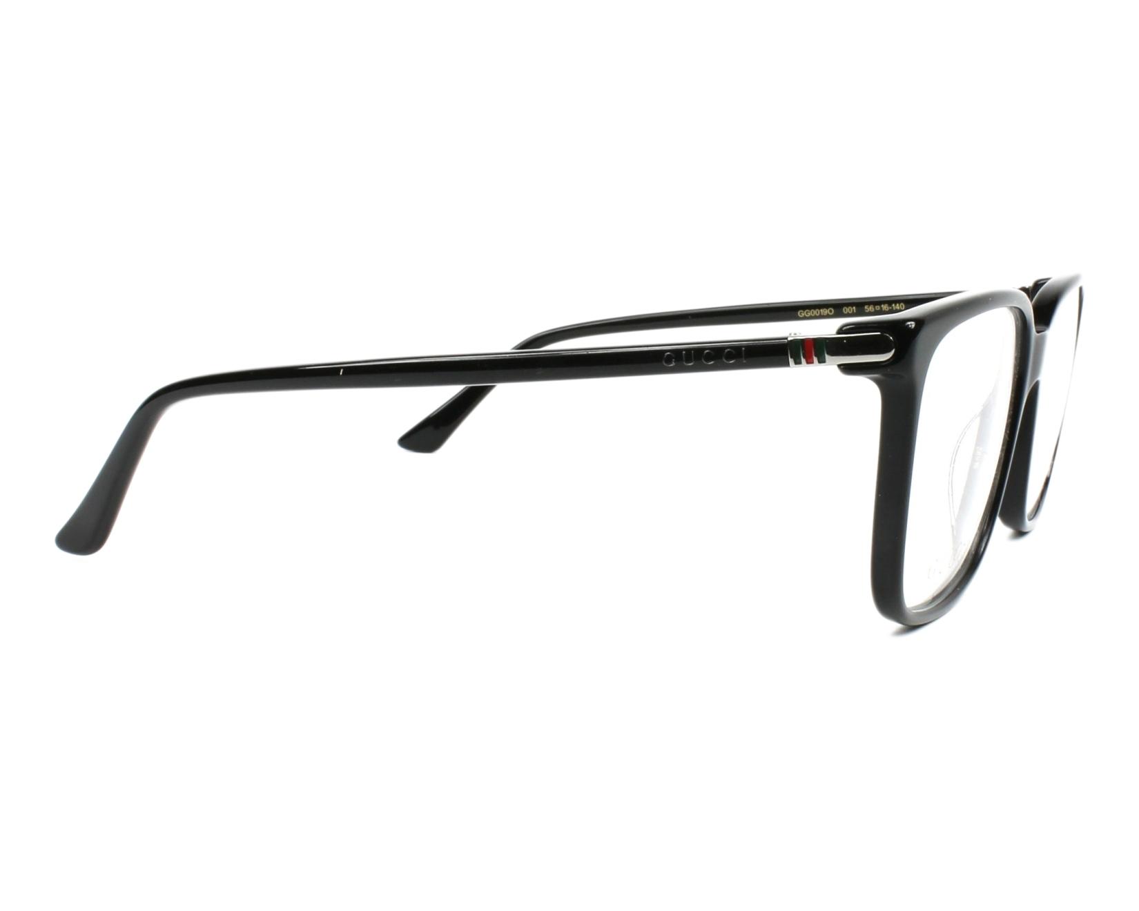 bfc184d4c28 eyeglasses Gucci GG-00190 001 56-16 Black side view
