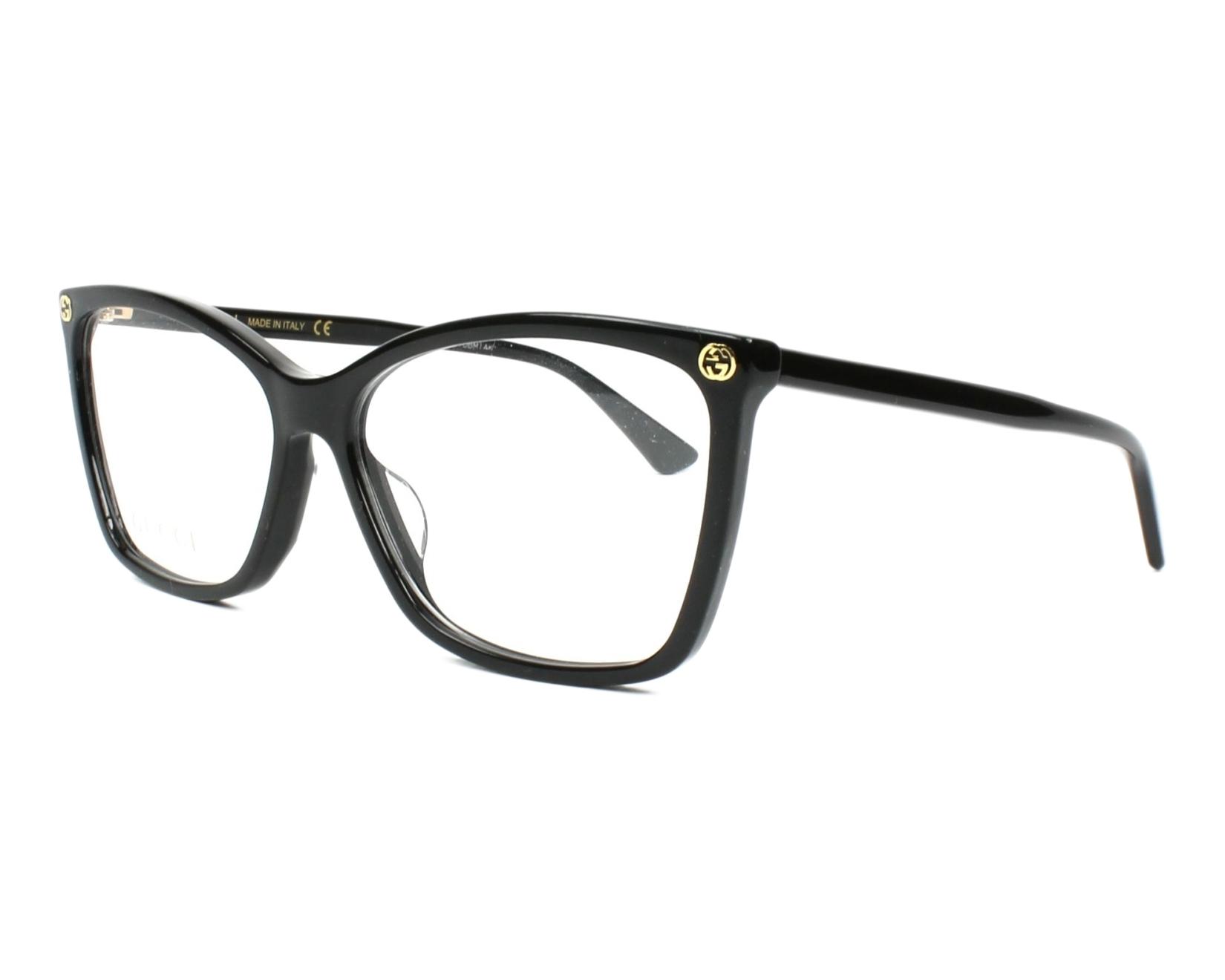 bedddeff44f eyeglasses Gucci GG-00250 001 56-14 Black profile view