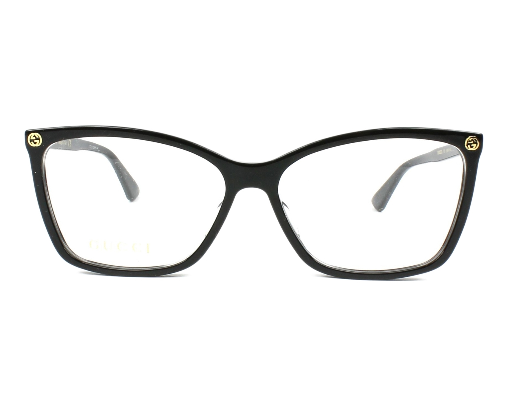 55dd536d81e eyeglasses Gucci GG-00250 001 56-14 Black front view