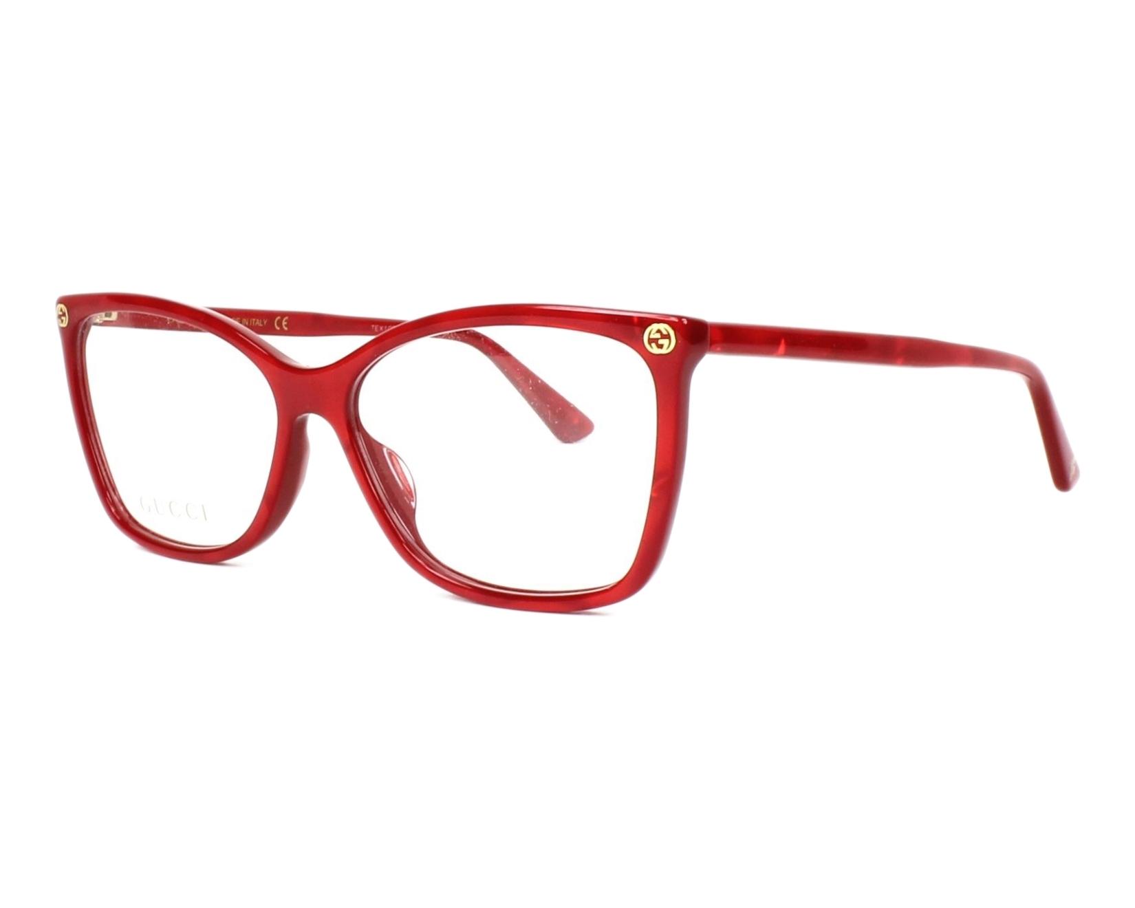 Gucci Eyeglasses GG-00250 004 Red - Visionet UK